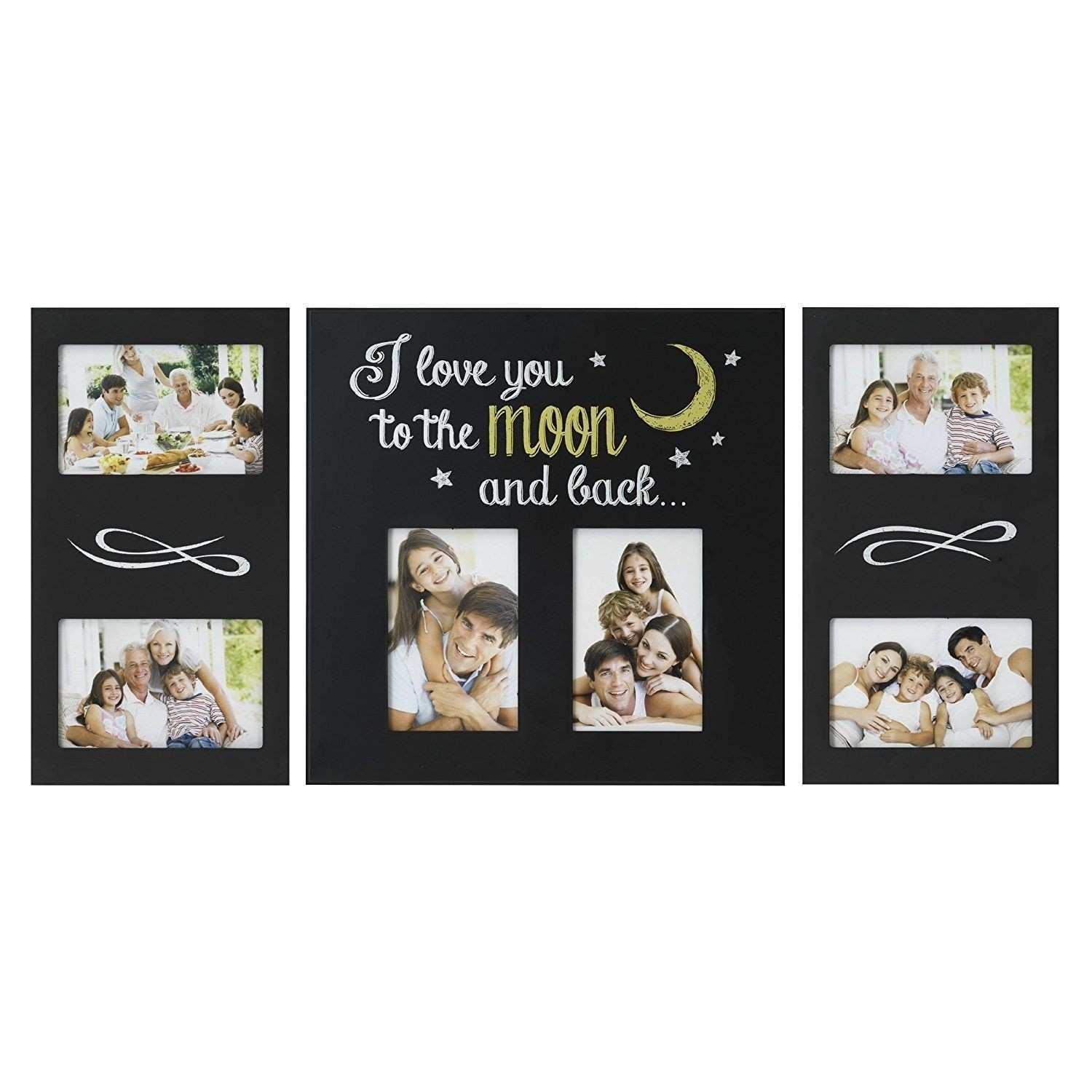 Melannco 3 Piece I Love You To The Moon and Back Plastic Collage