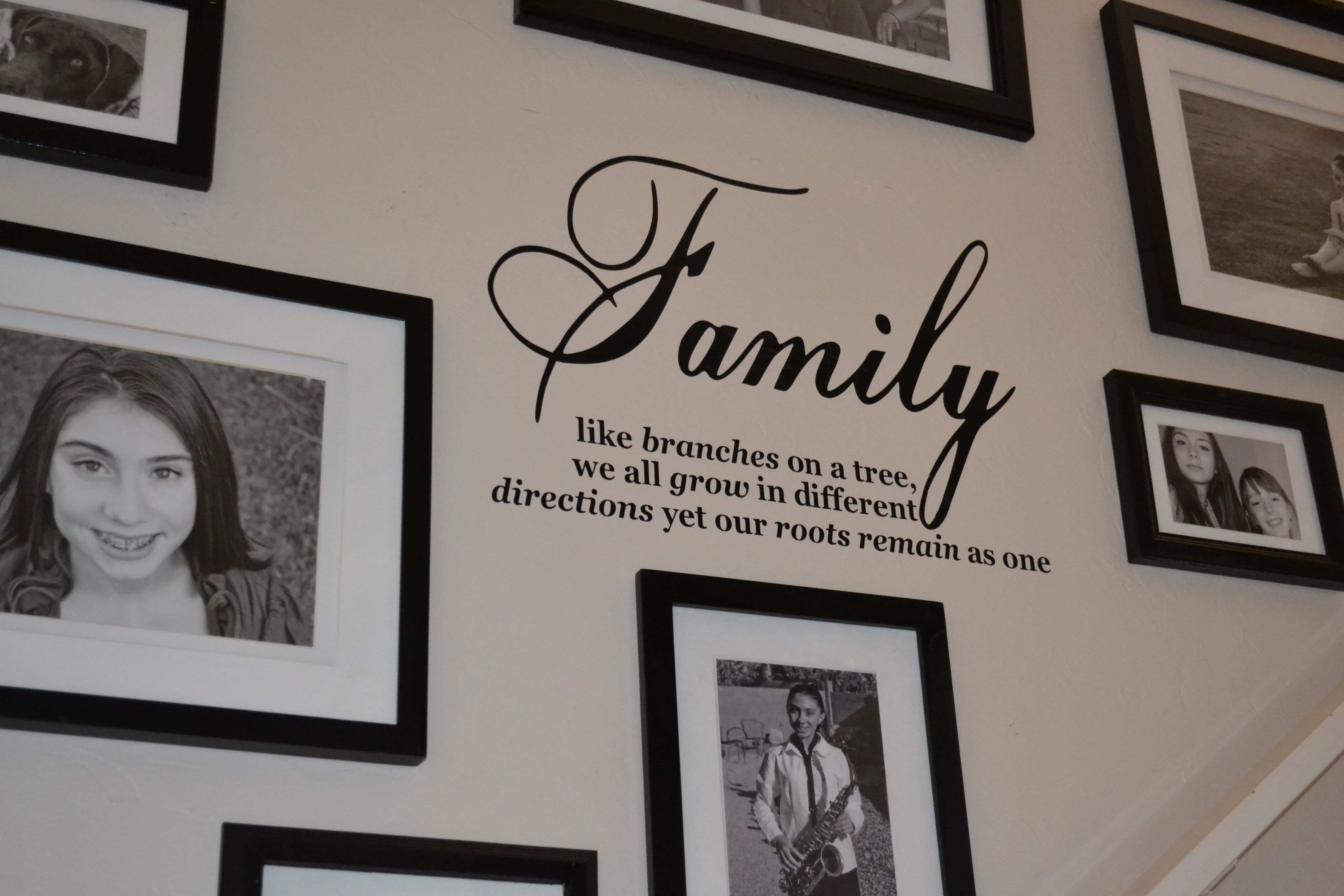 vinyl wall quote spray painted picture frames for wall collage