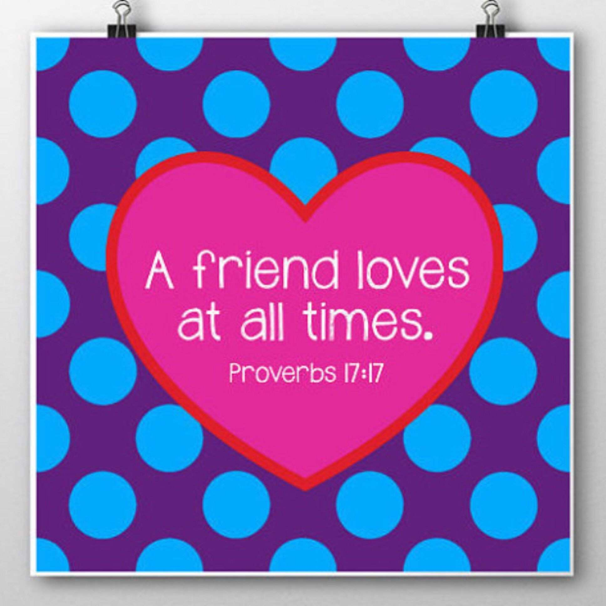 Proverbs 17 17 printable wall art will print any SQUARE size 4