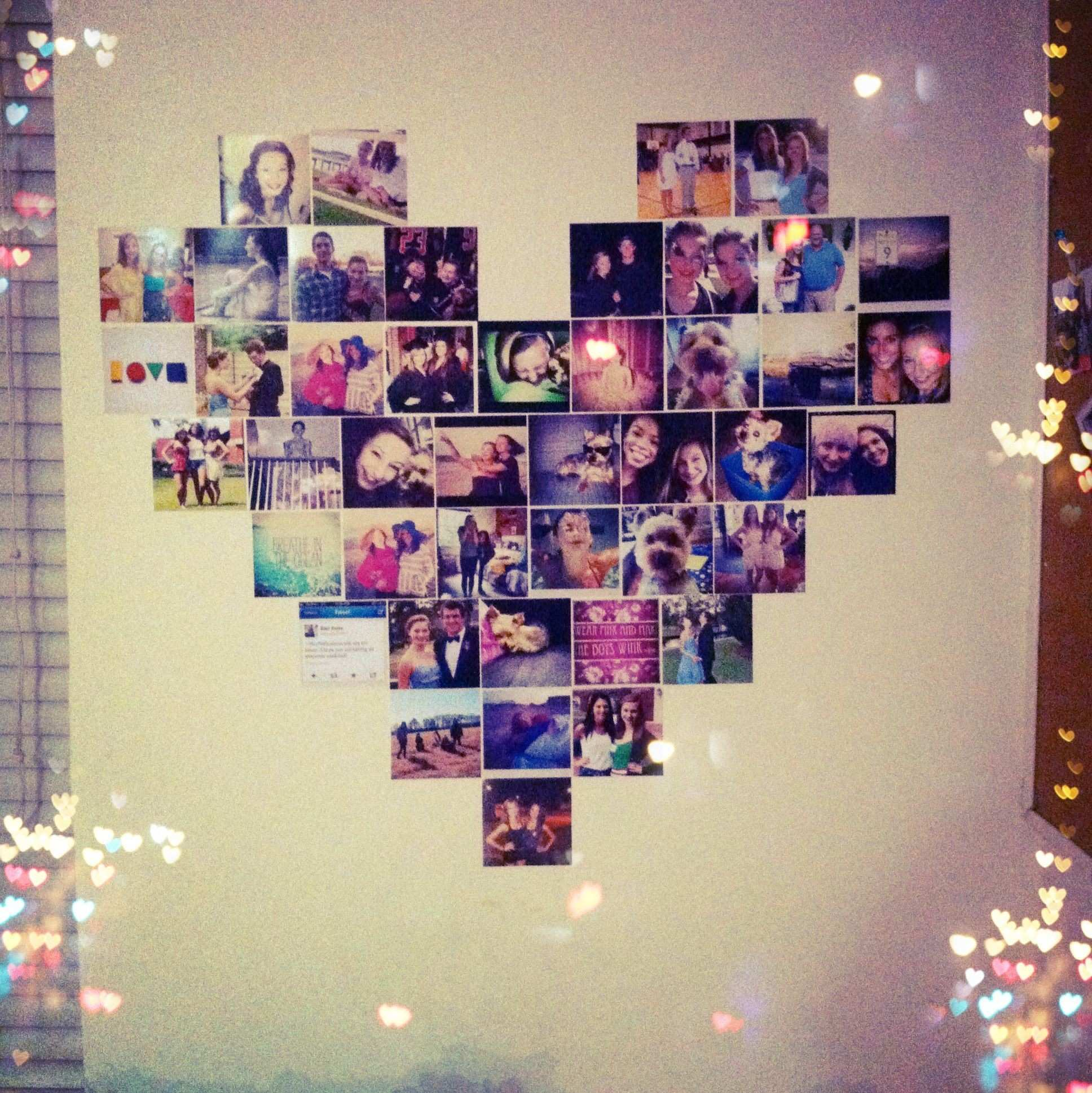 Heart shaped photo collage Barbie Dream Home