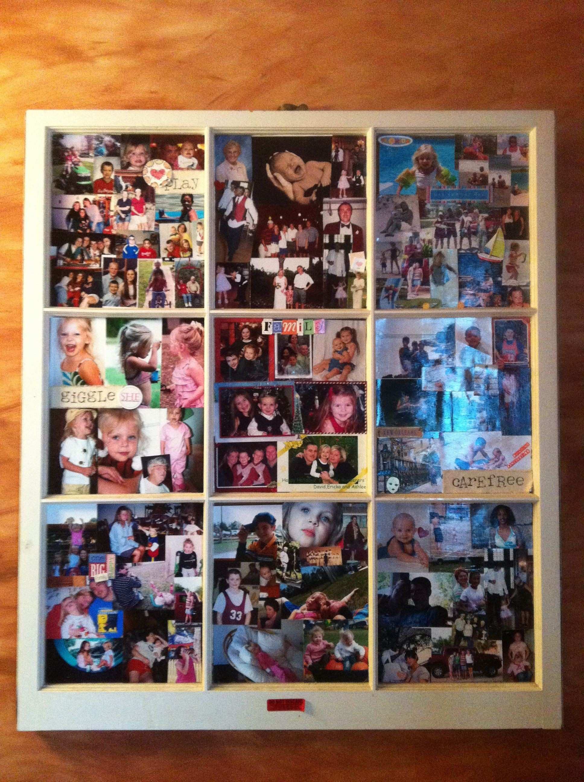 Old window photo collage frame For the Home Pinterest