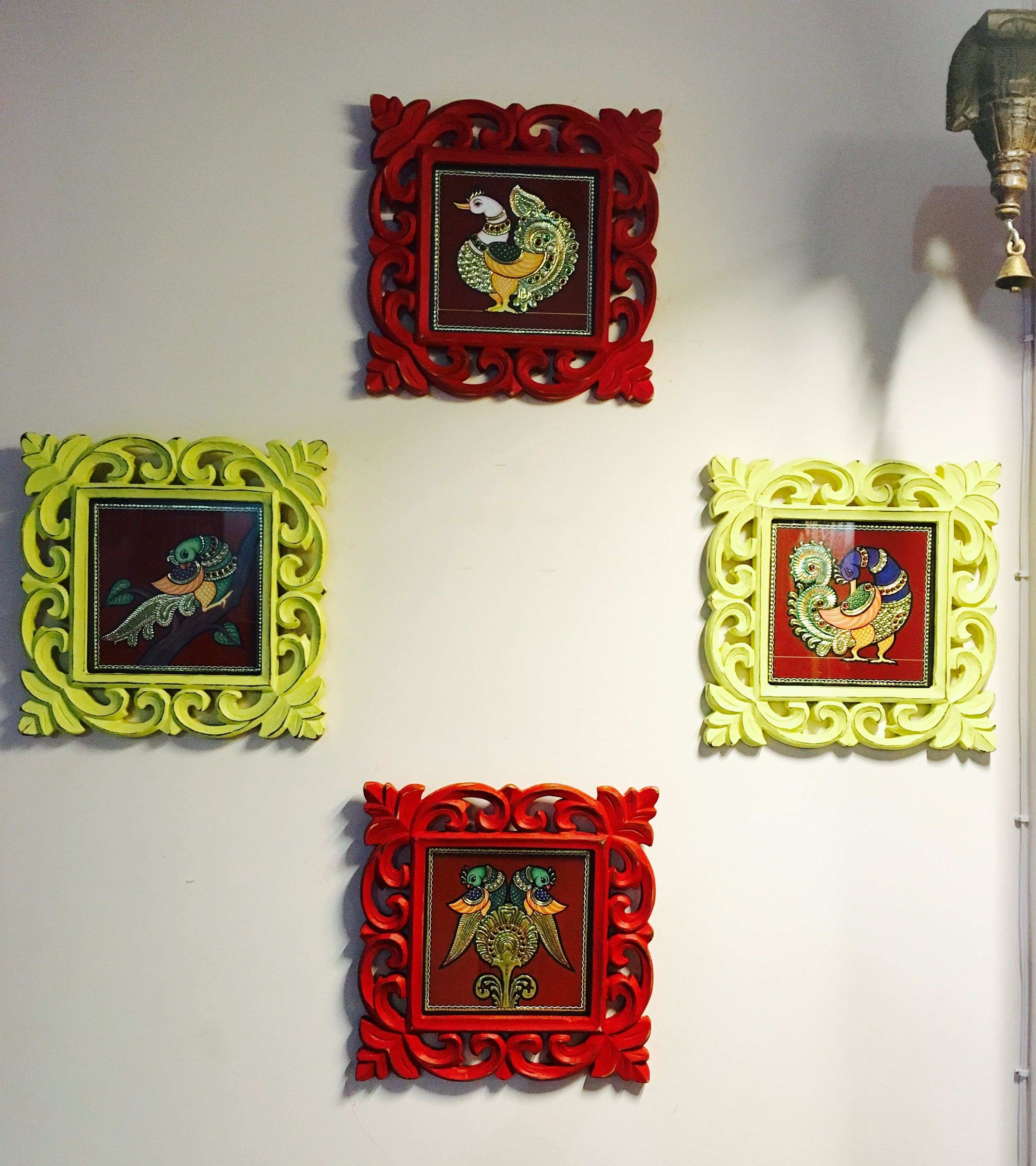 Tanjore art from Indian artistry done up in colourful frames bring