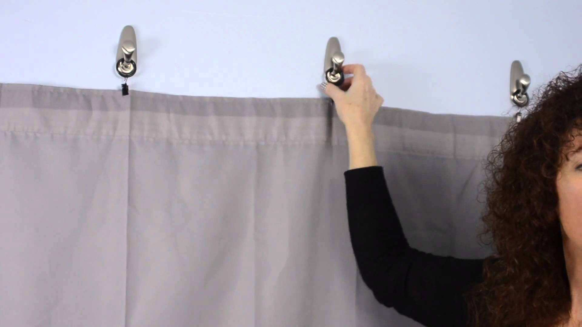how to hang curtains in a dorm