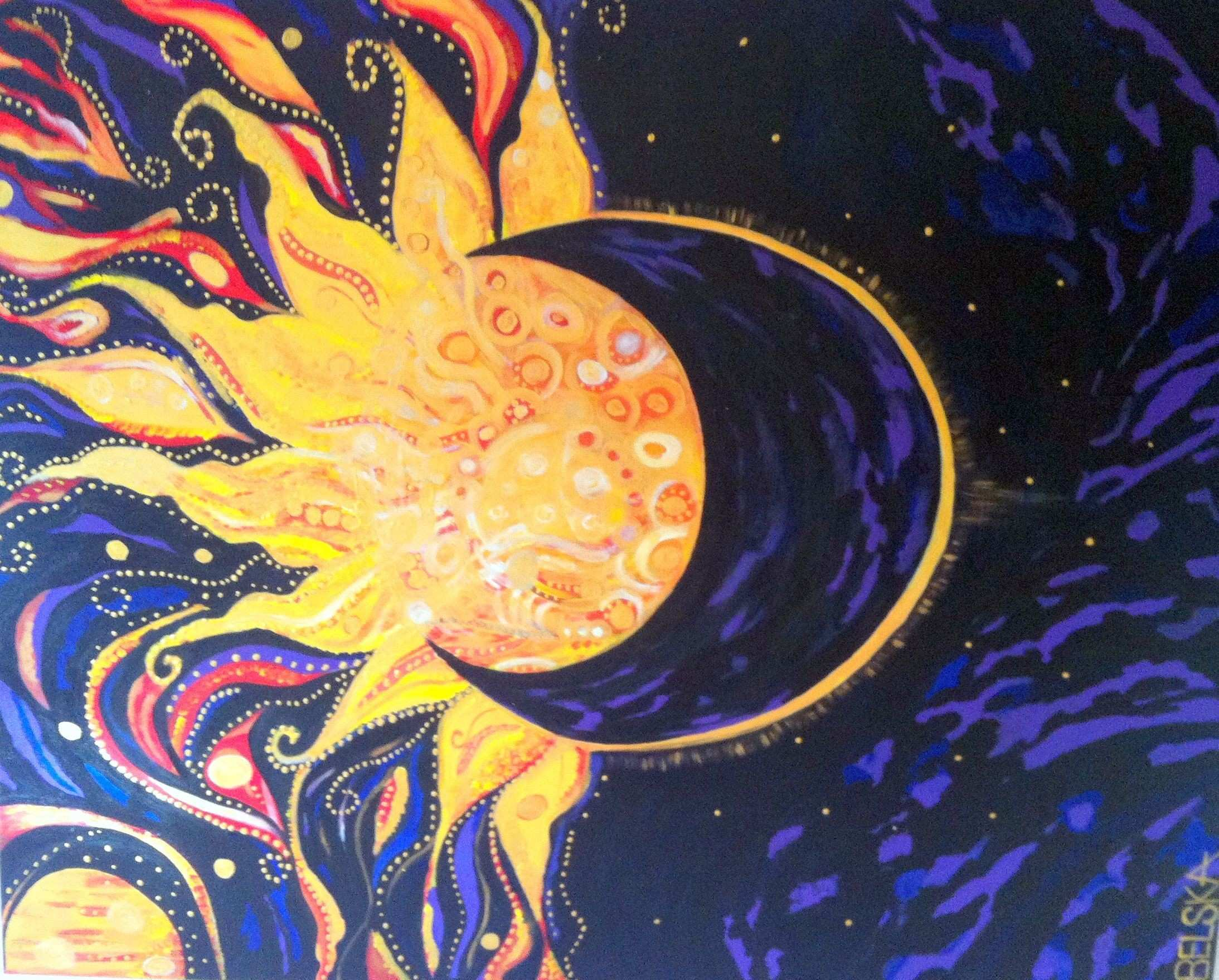 painting of the sun Paintings Originals For Sale