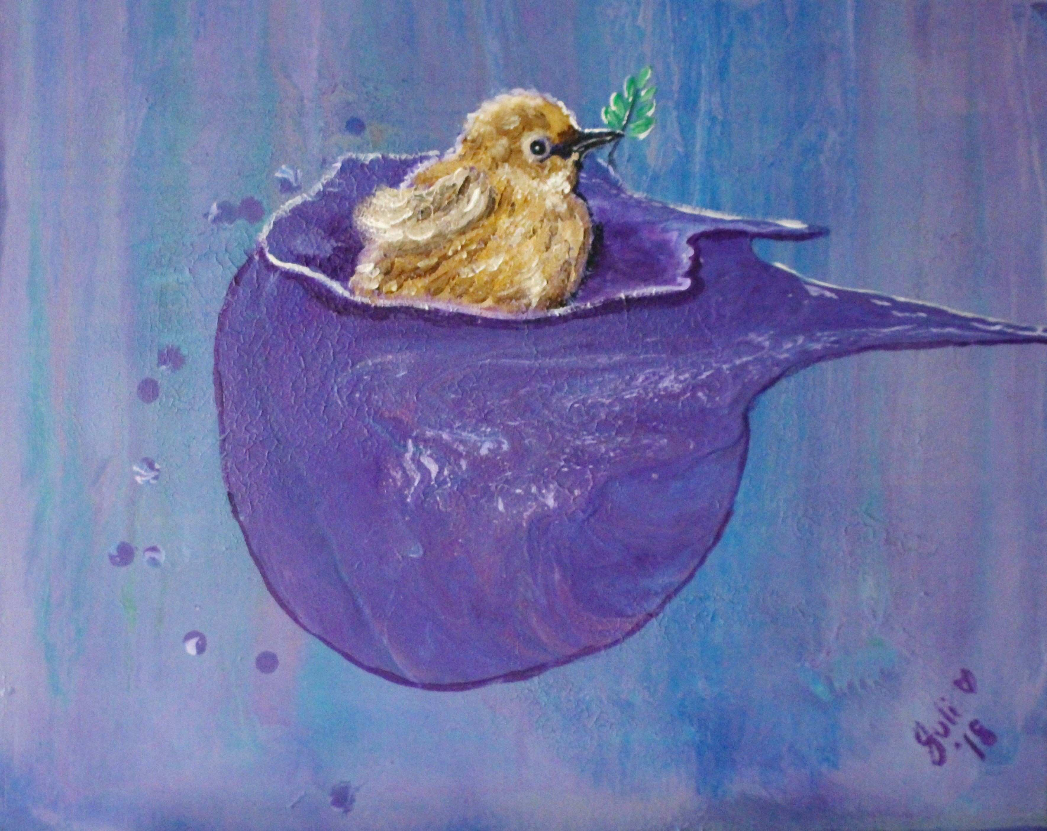 """Cool Paintings for Sale Awesome Cup Of Happiness Abstract Mixed with Realism"""" by Julie Hollis"""
