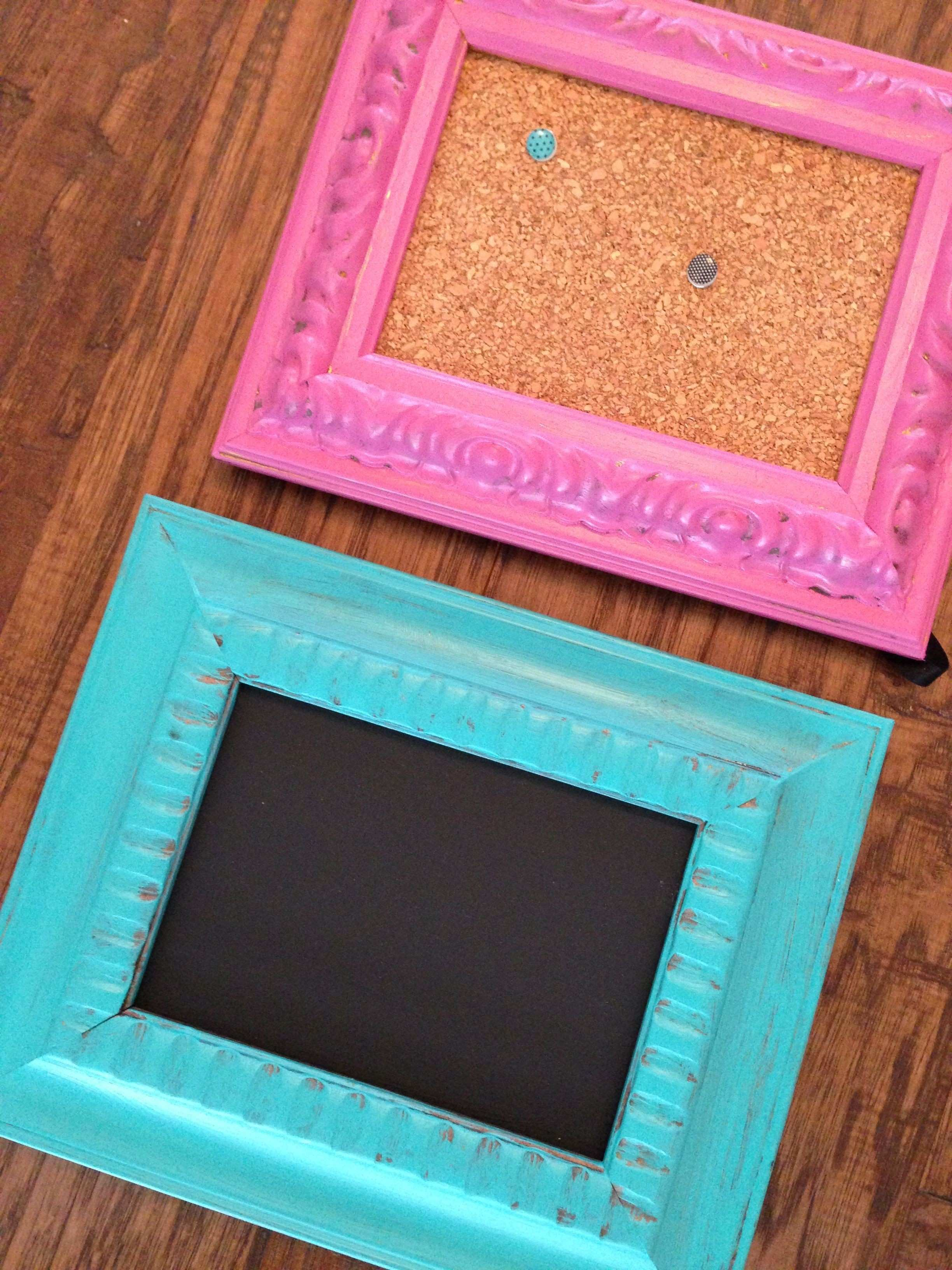 DIY Fancy picture Frame with chalkboard paint & fancy frame with