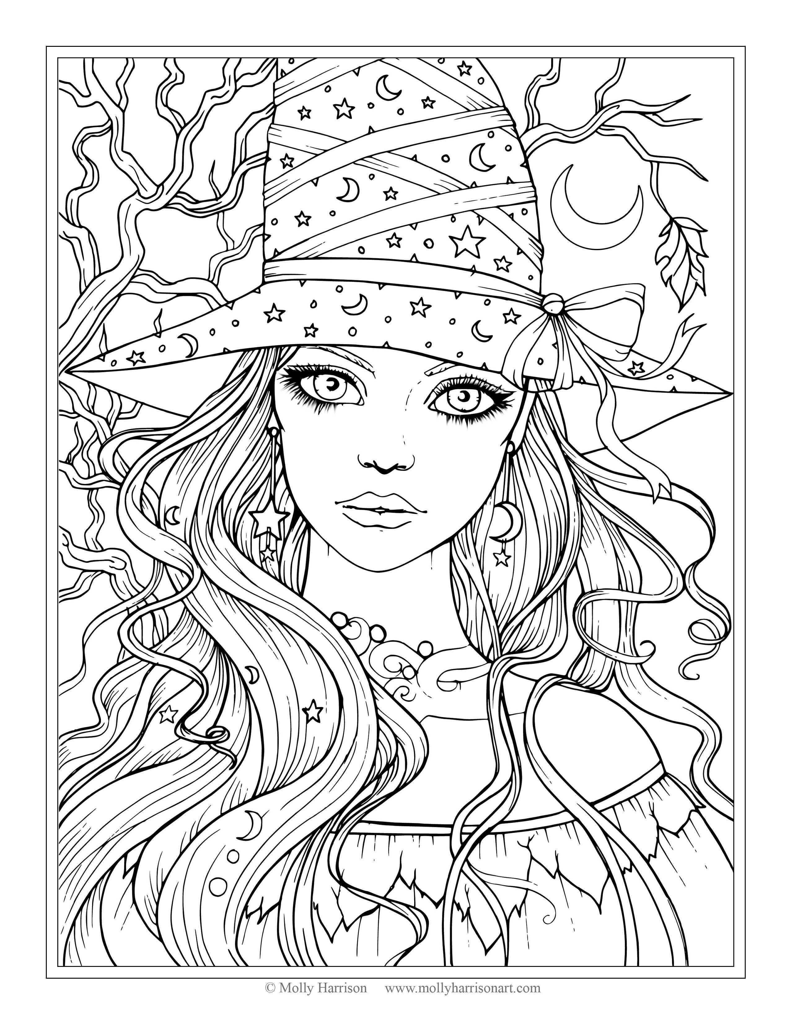 Fantasy Coloring Pages Luxury Cool Coloring Page Unique Witch