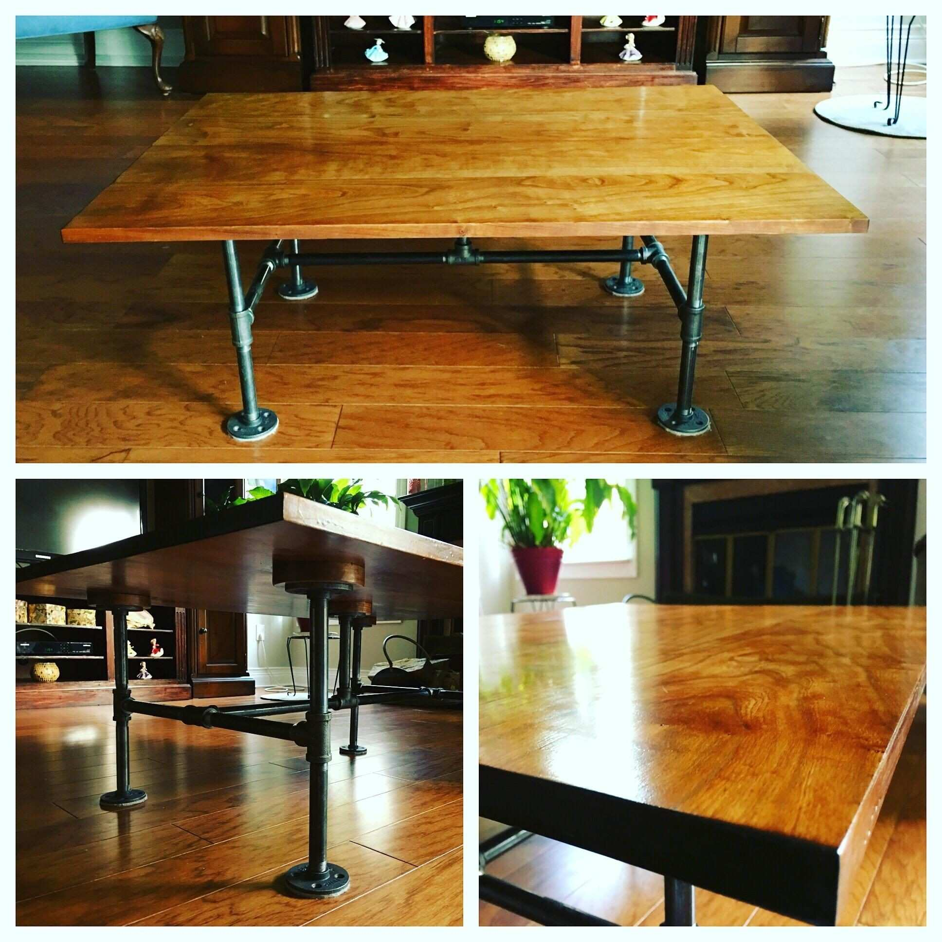 Cool Things Made Out Of Wood New Cherry Wood and Gas Pipe Coffee Table Part Of A Set My Father and I