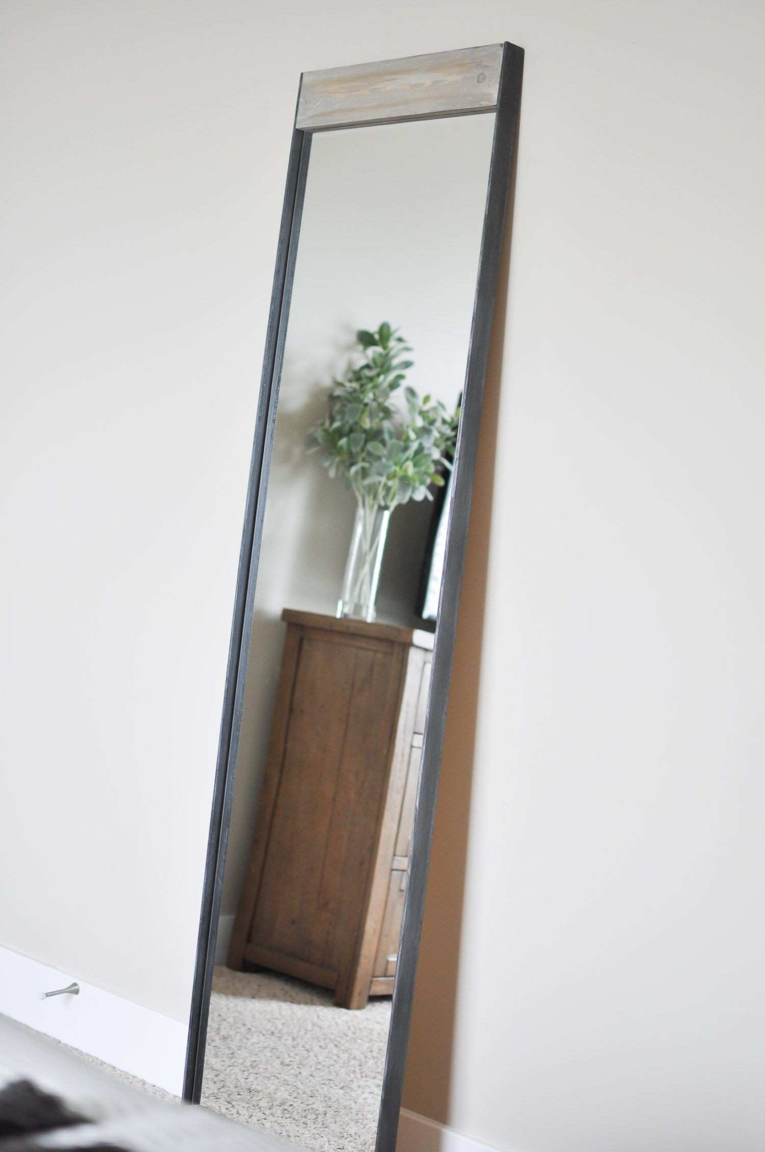 Cliveden Wood Metal Wall Mirror Brown 32 H X 21 W 1 5 D 7f