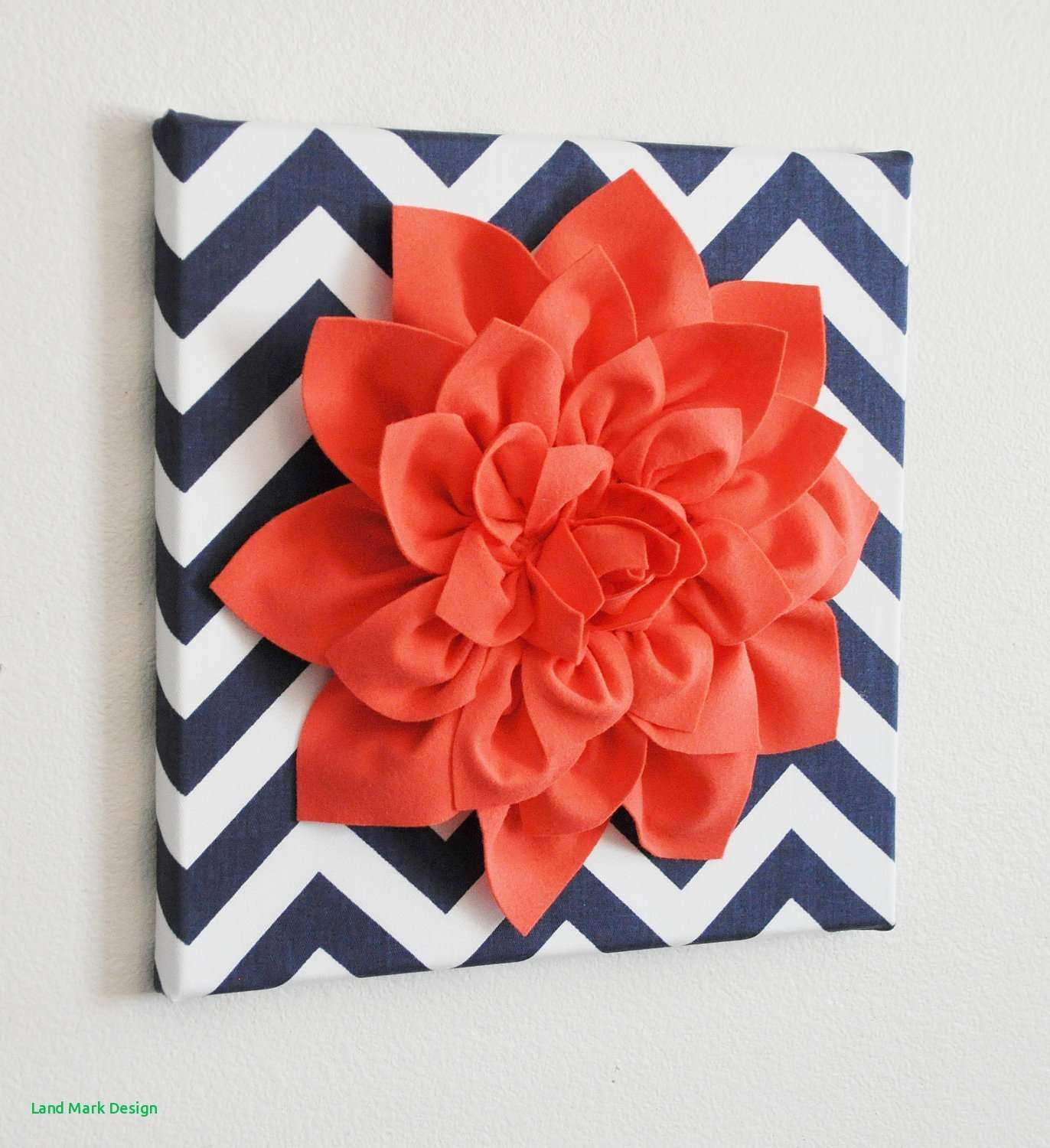 Coral Colored Wall Decor Design