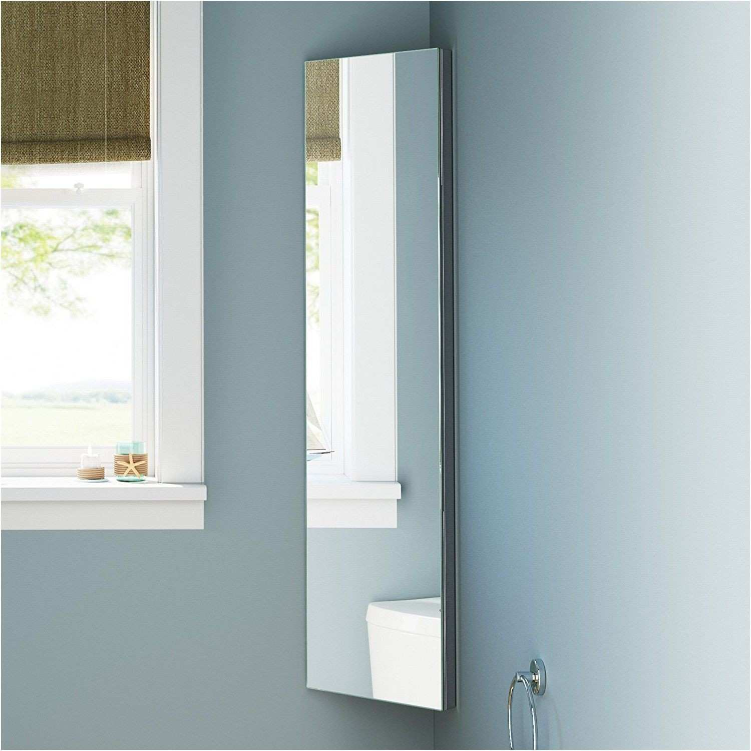 zanex bevelled edge 1200mm stainless steel mirror bathroom corner
