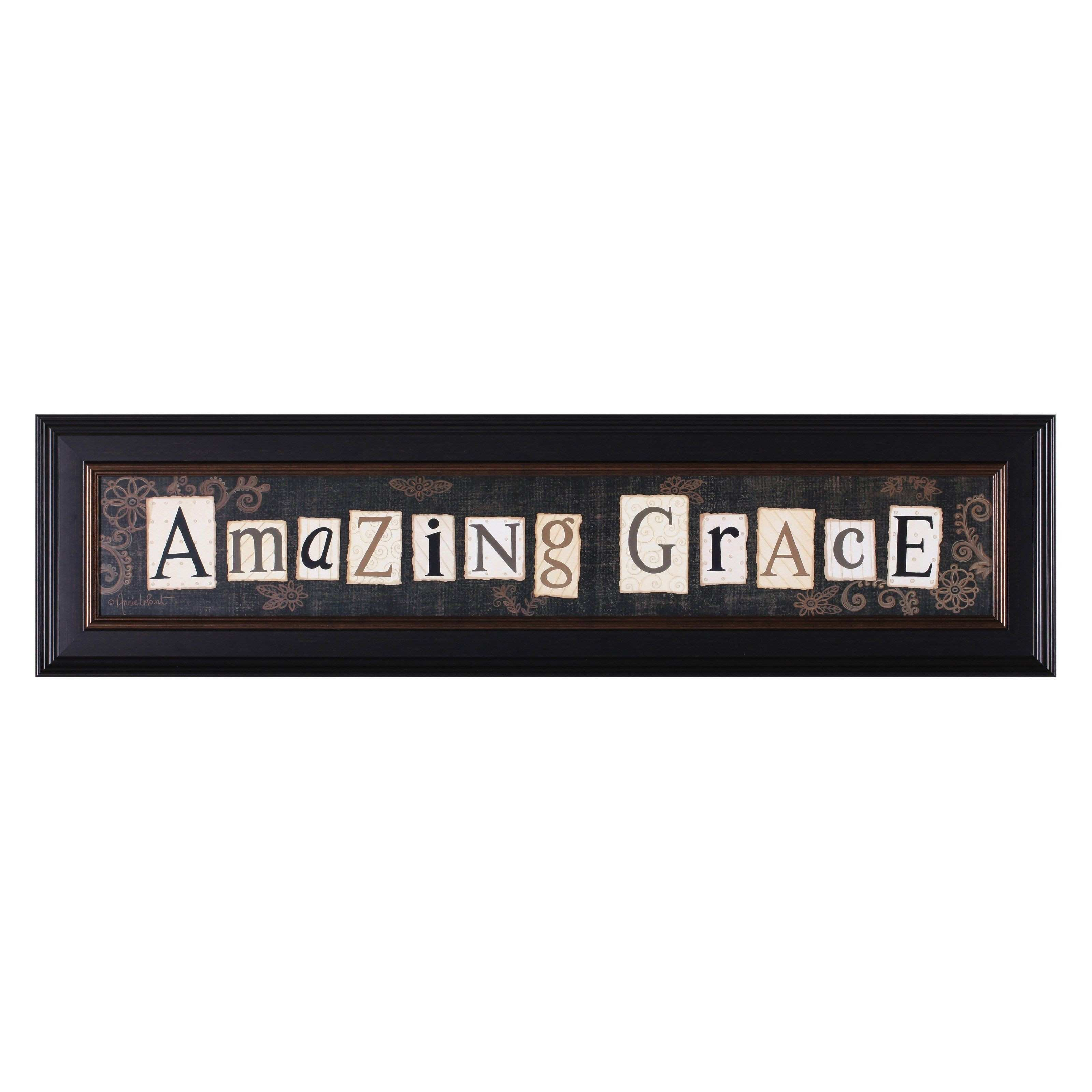 Art Effects Annie LaPoint Amazing Grace Framed Wall Art F