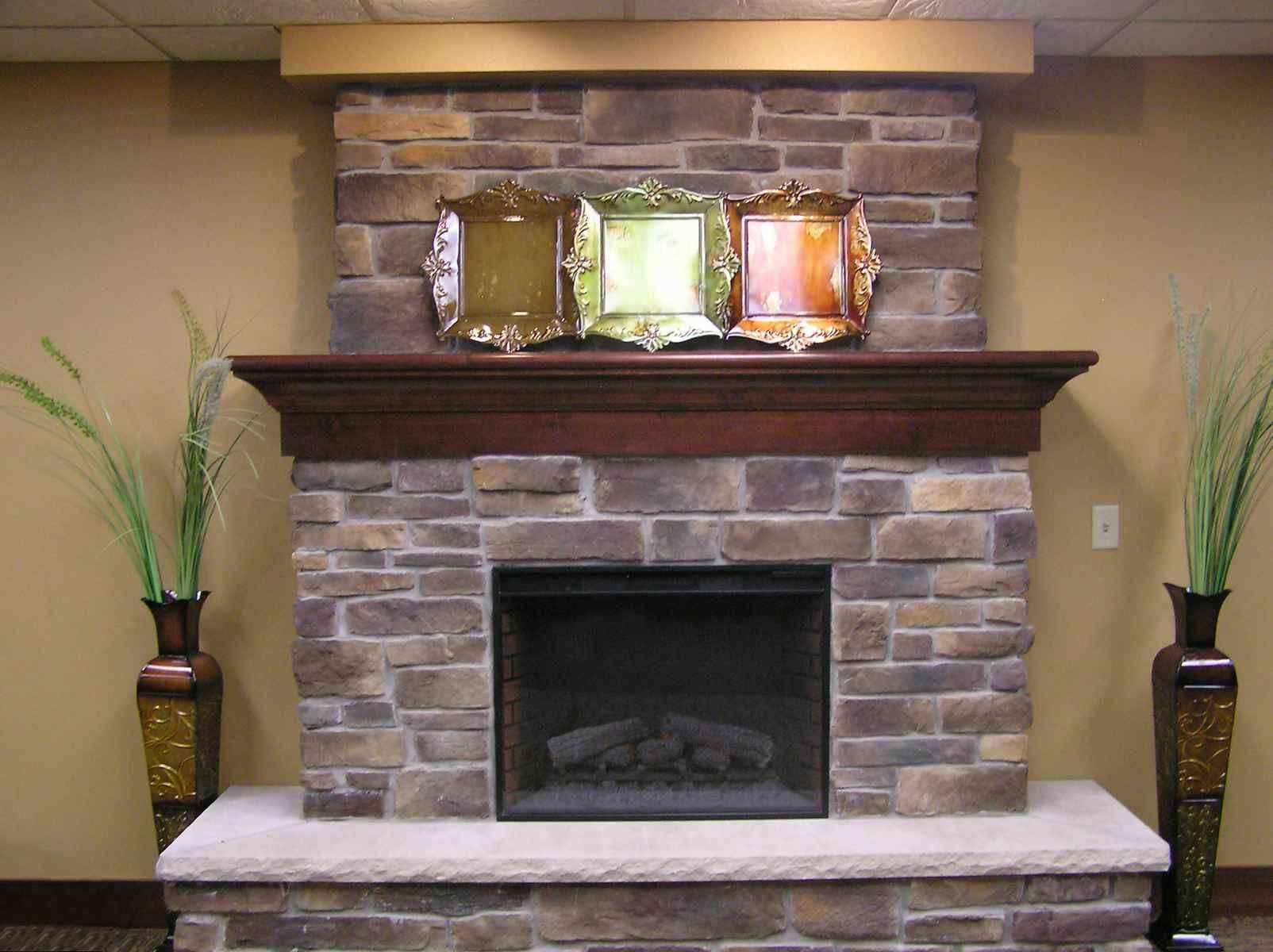 Fireplace & Accessories Amazing Stone Fireplaces Beige Walls And