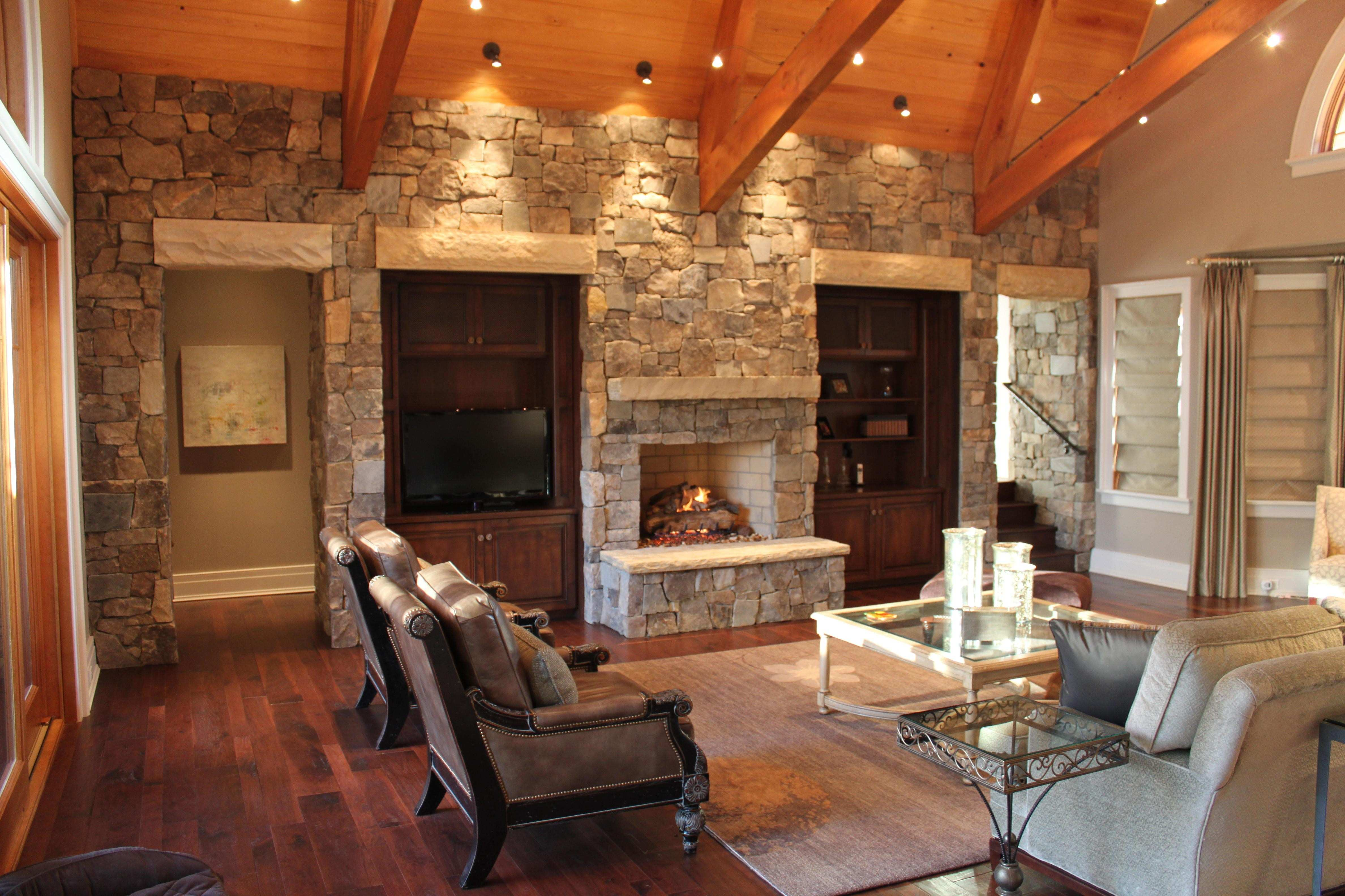Rustic Fireplace and Wall Decor for Christmas