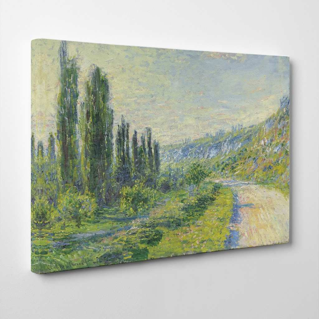 Canvas Print Various Size Wall Art Claude Monet Lane in the Country