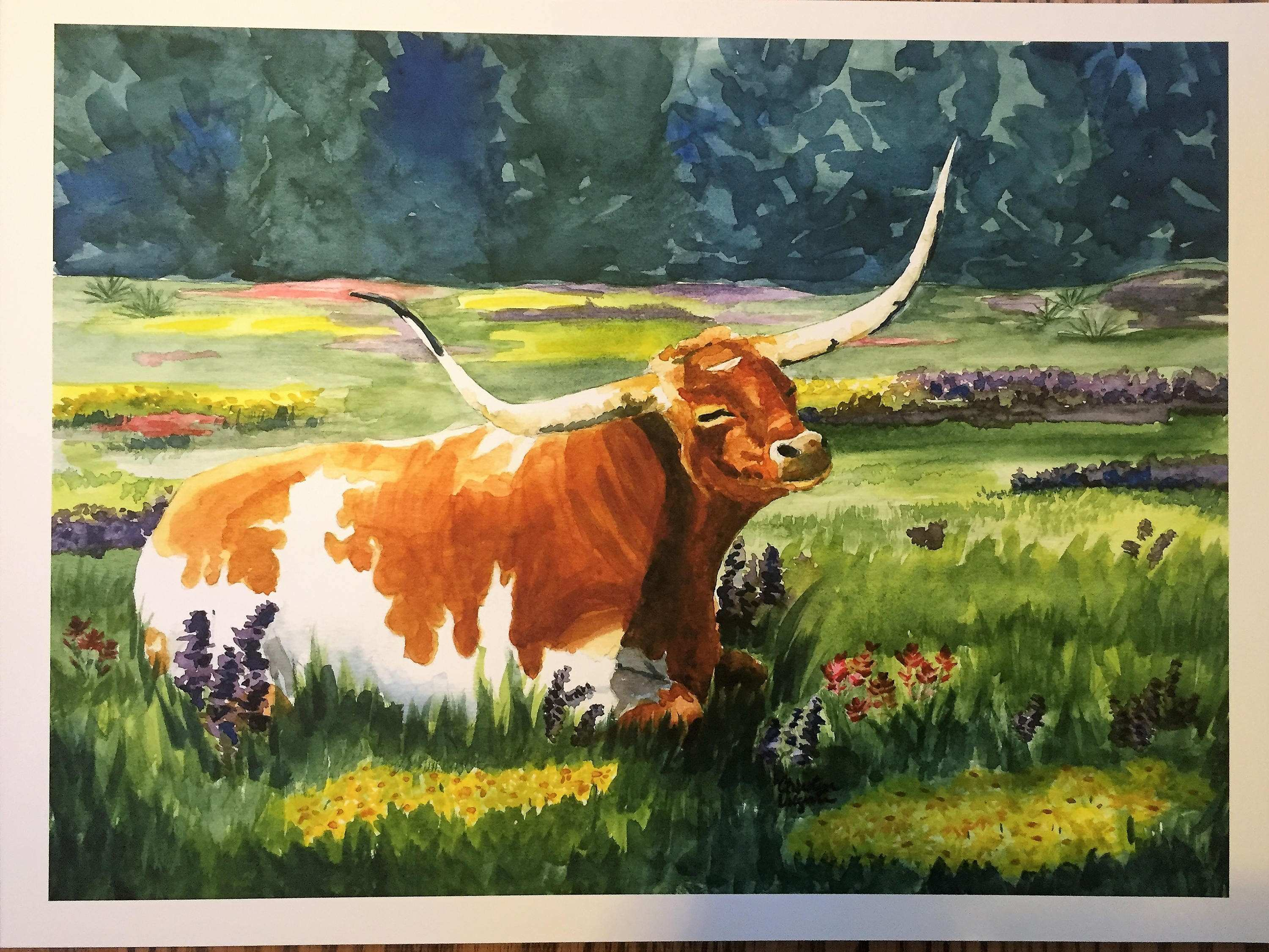 Art cow wall art Buy The Diane Whitehead Gallery Blue Cow Canvas