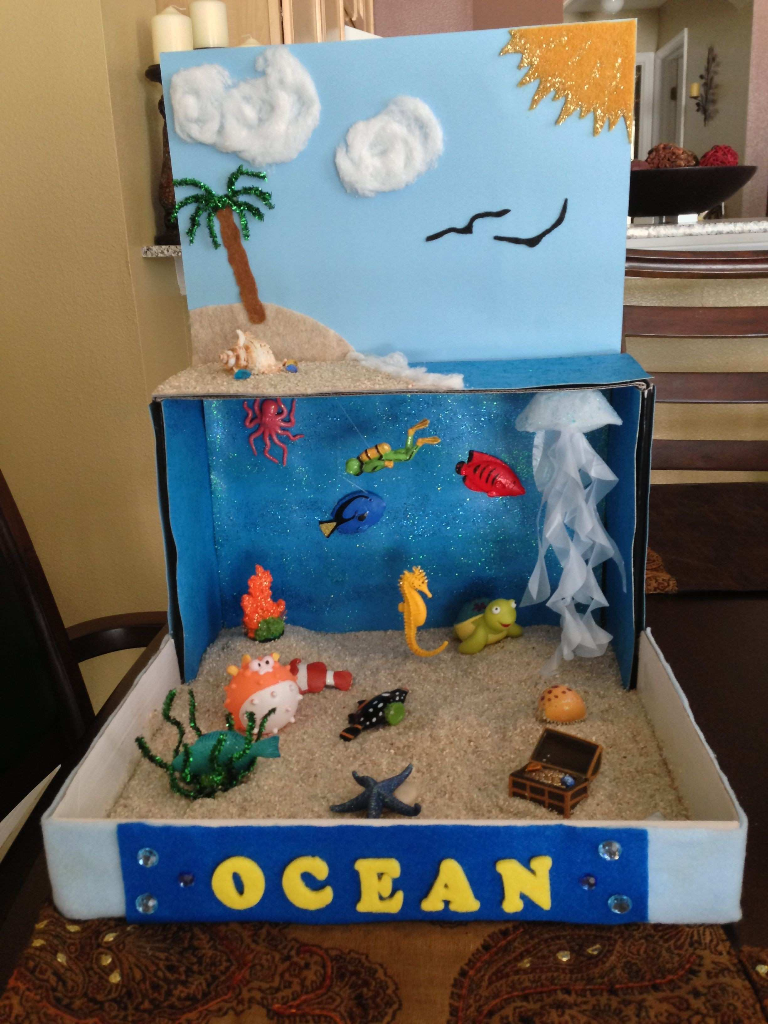 Crafts for Kids Elegant Ocean Diorama for School Project Idea for Henry 2nd Grade Project