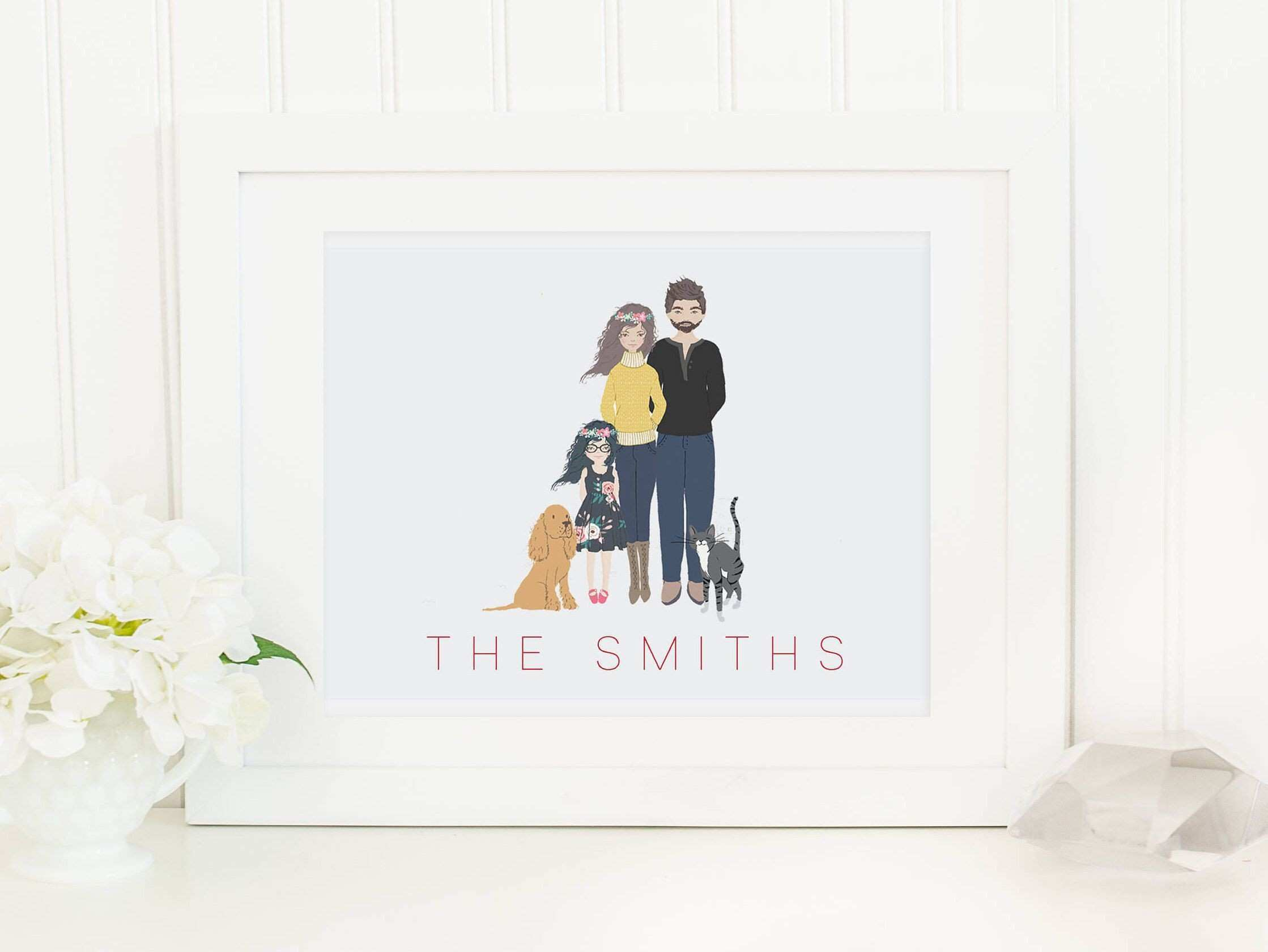 Personalized Family print Custom family print couples print