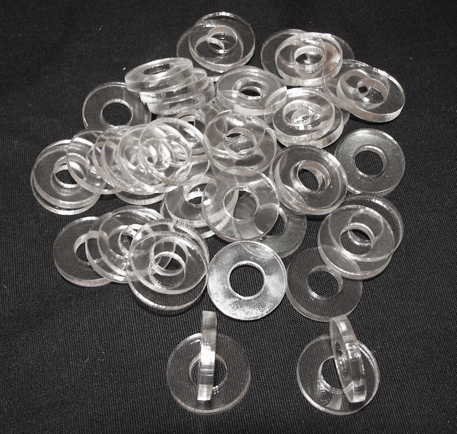 3mm Acrylic Clear Washer Tattoo Machines Parts Custom Washer 5 16