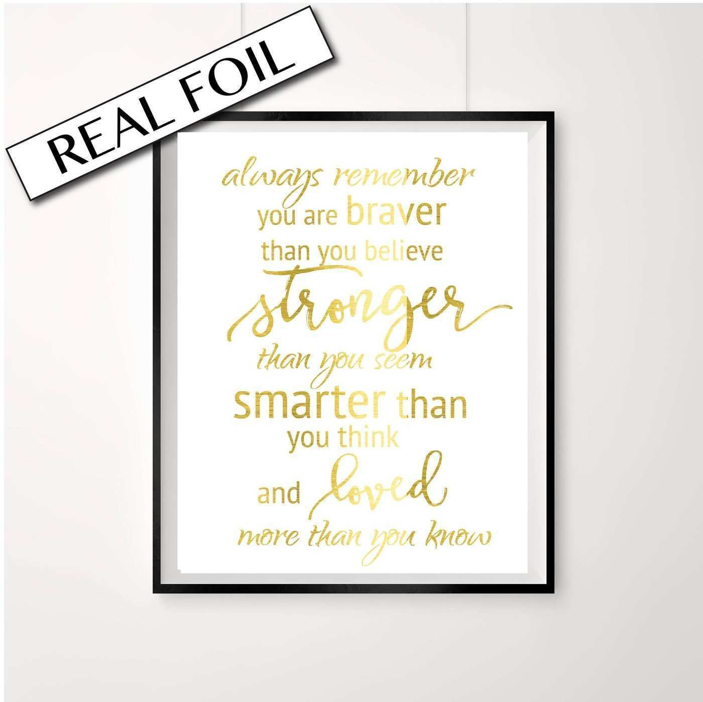 Gold foil Print Always remember – Peppa Penny