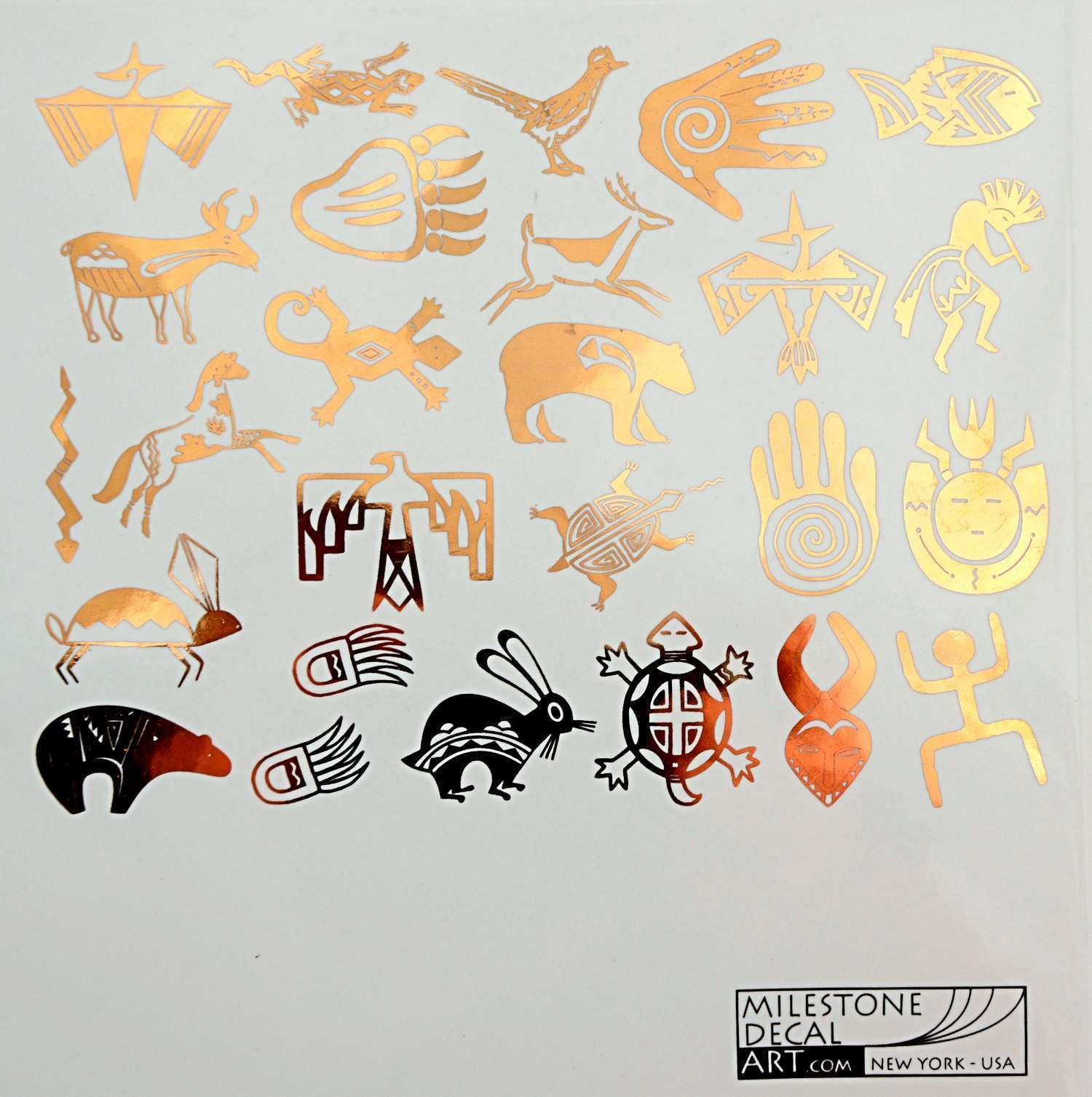 Native American Indian Decals with Kokopelli for Glass Ceramic or