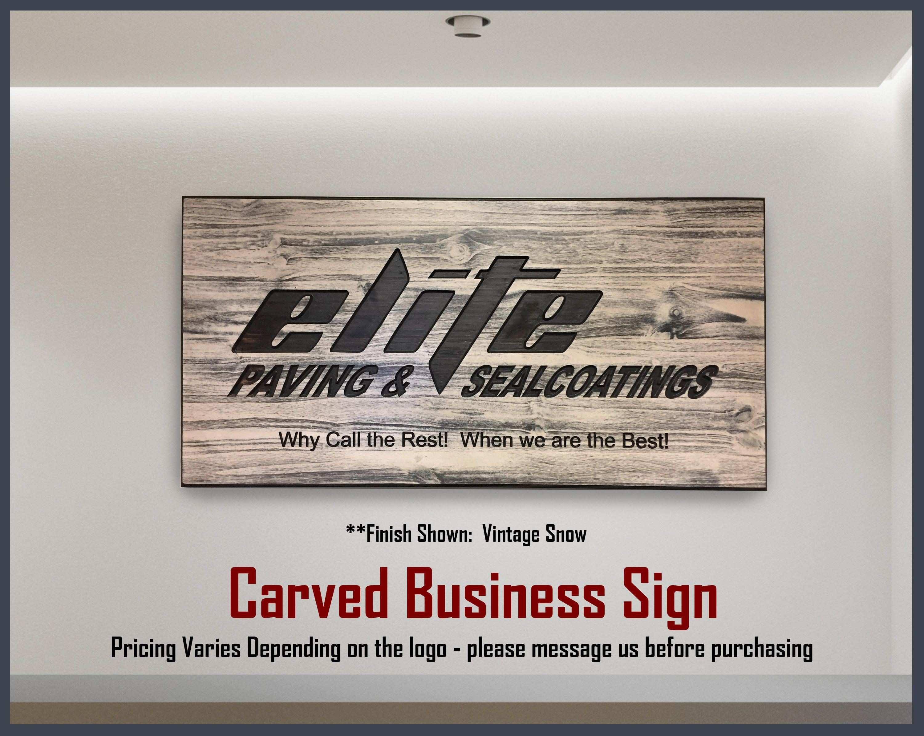 Custom Business Sign pany Logo Carved fice Wall Decor Wood