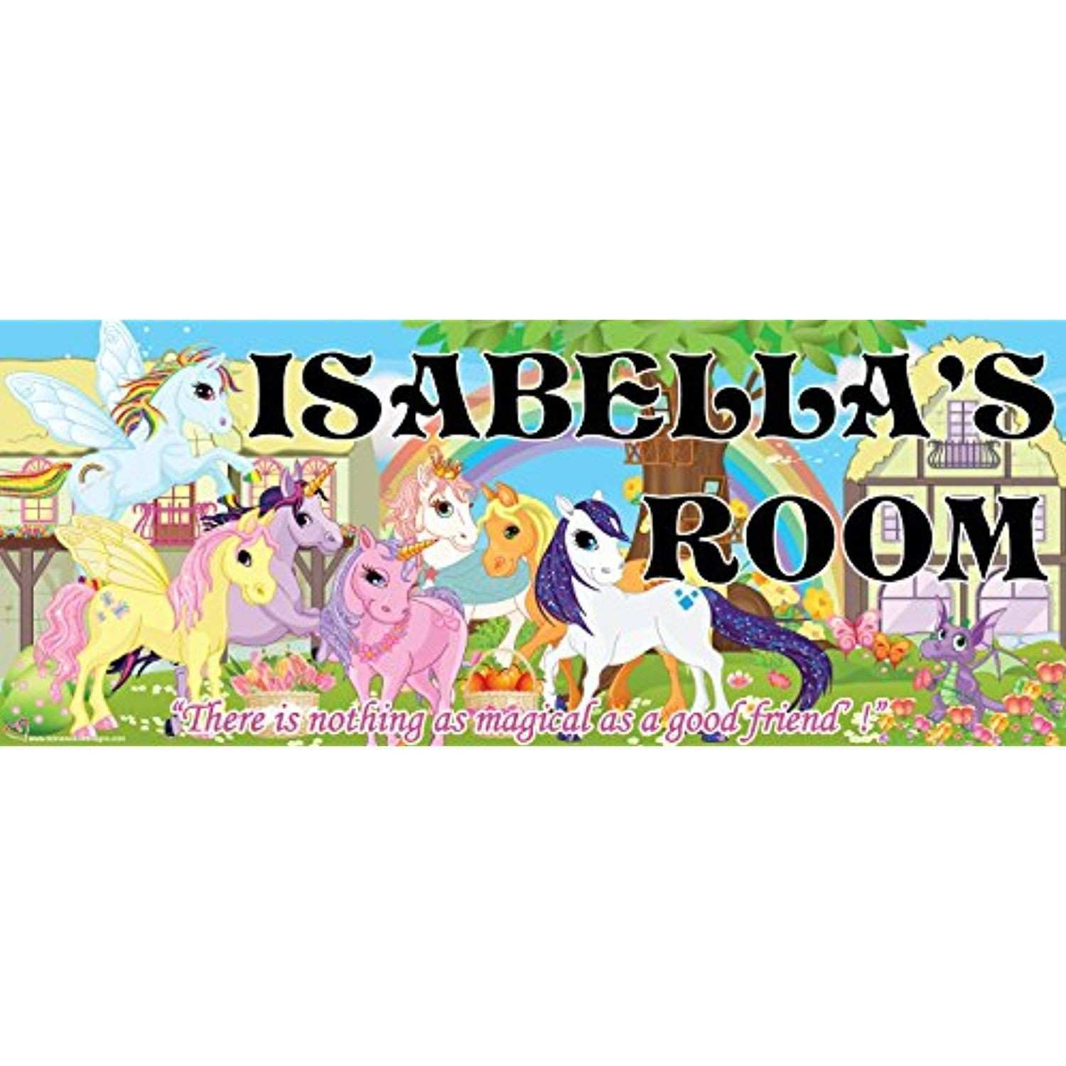 "Mona Melisa Designs Customized Pony ""Isabella"" Name Sign Decorative"
