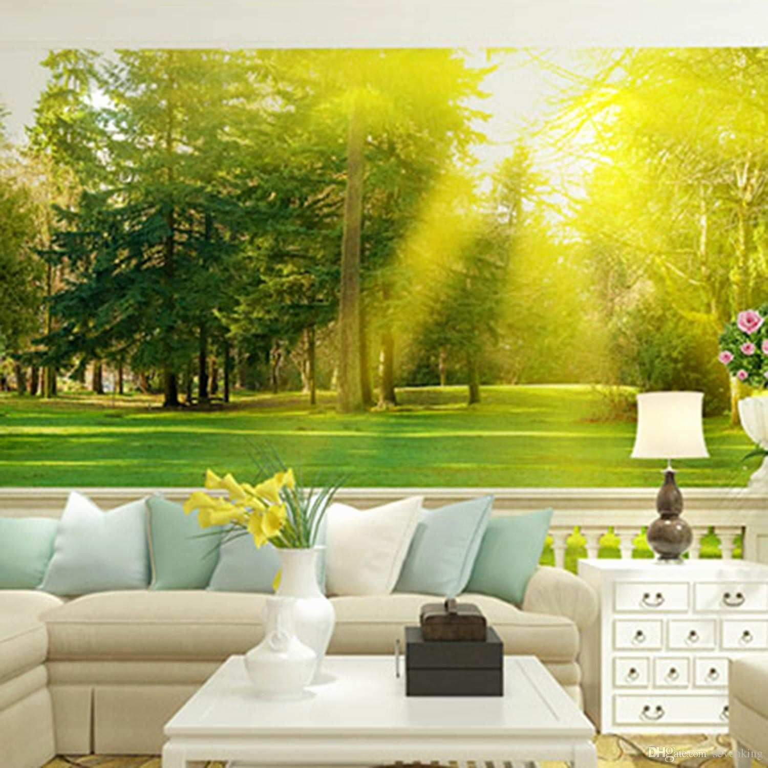 Wall Mural Templates Luxury Custom 3d Mural Wallpaper Trees with