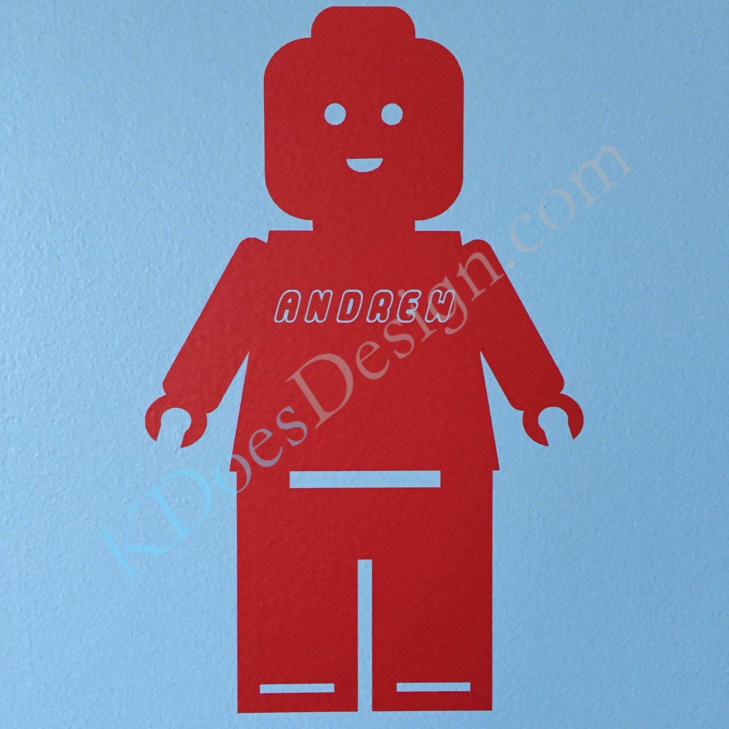 Personalized Lego Minifigure Man Wall Decal Made for my little
