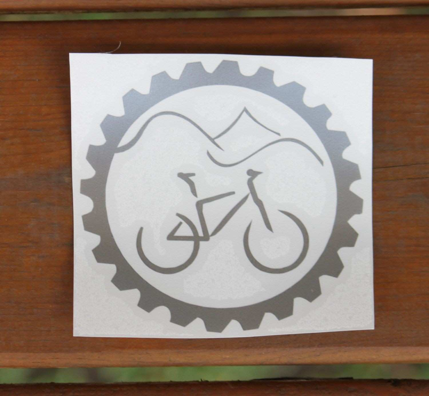 Mountain Bike Car Decal Car Sticker Window Bike Decal Mountain