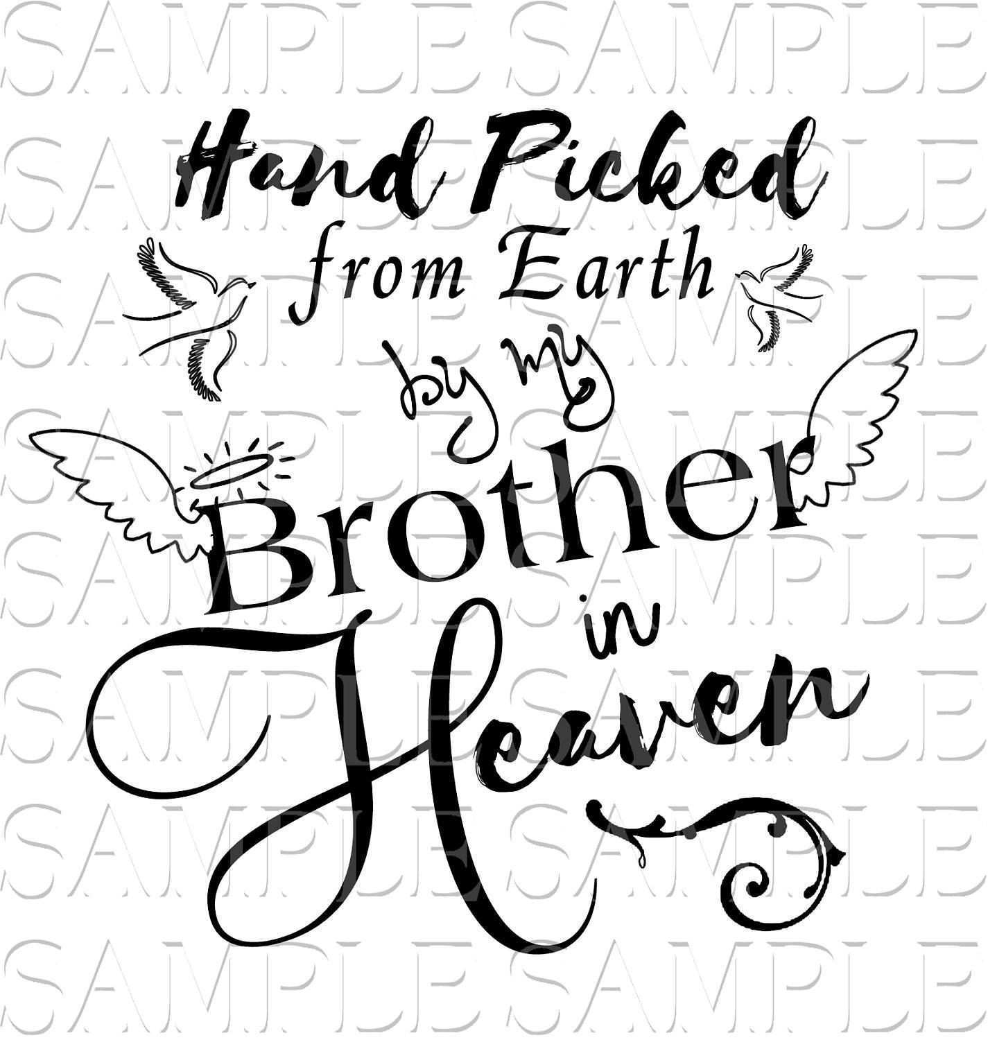 SPECIAL Brother & Sister Angel Loss In Loving Memory SVG Sticker