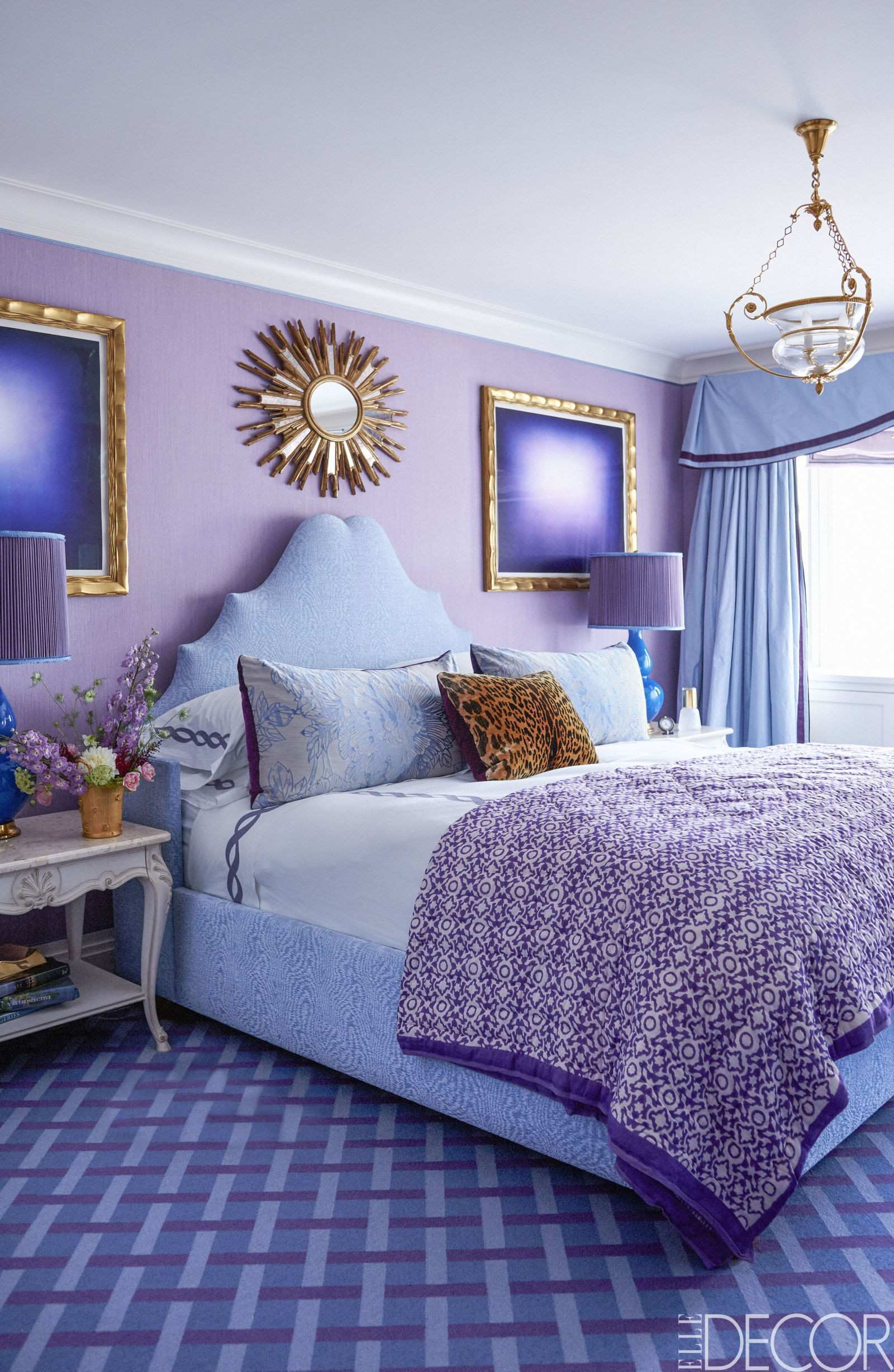 Fashionable Inspiration What Color Curtains Go With Purple Walls