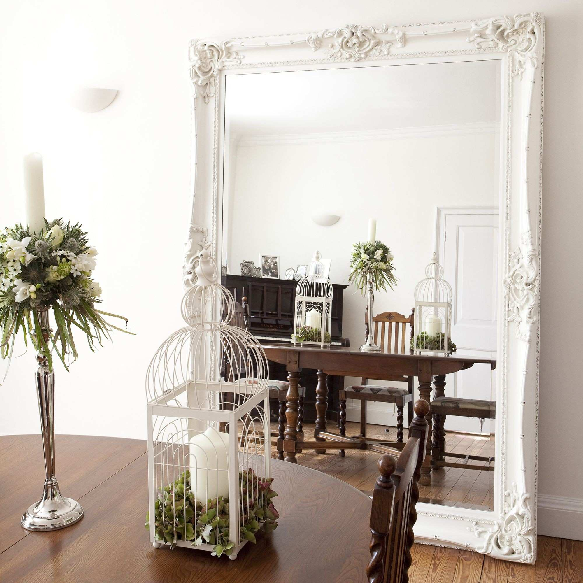 Elaborate White Mirror