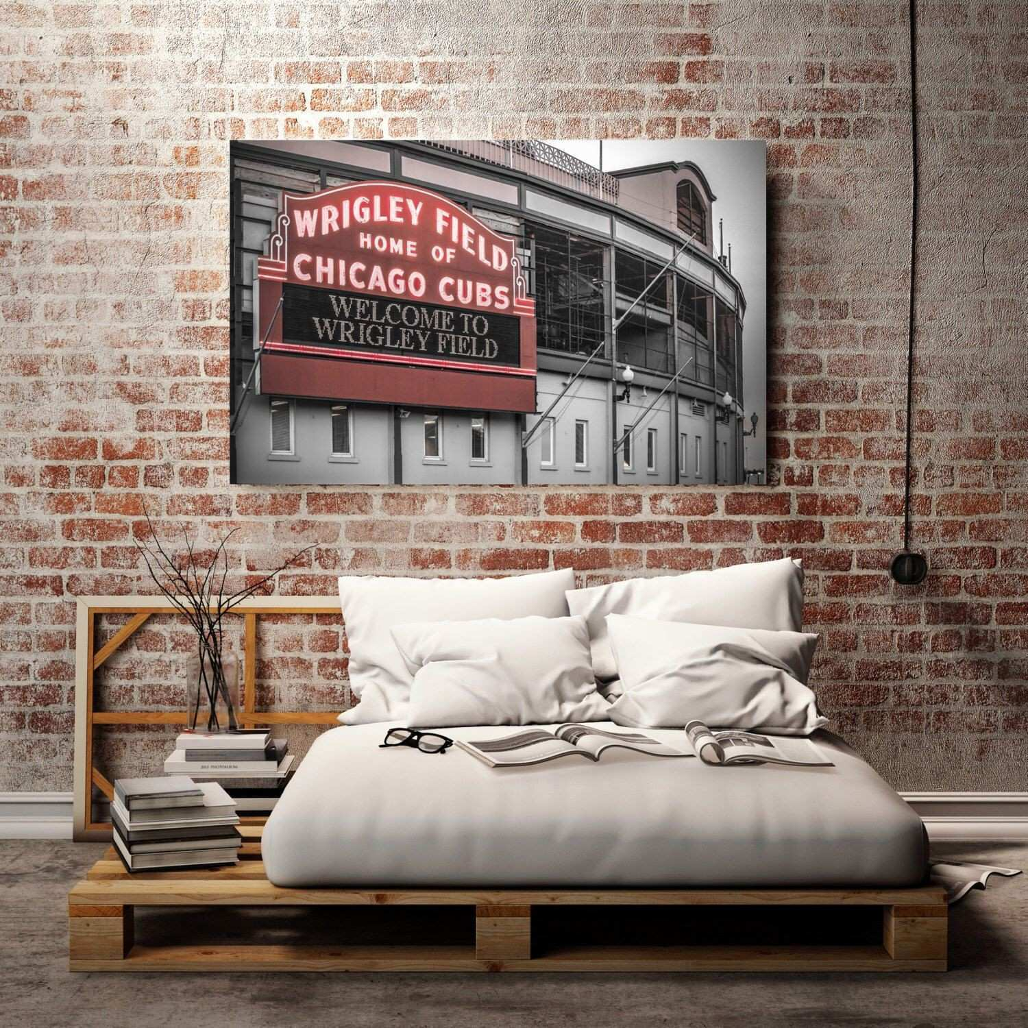 32 Beautiful Chicago Cubs Canvas Wall Art Inspirational Metal Mirror