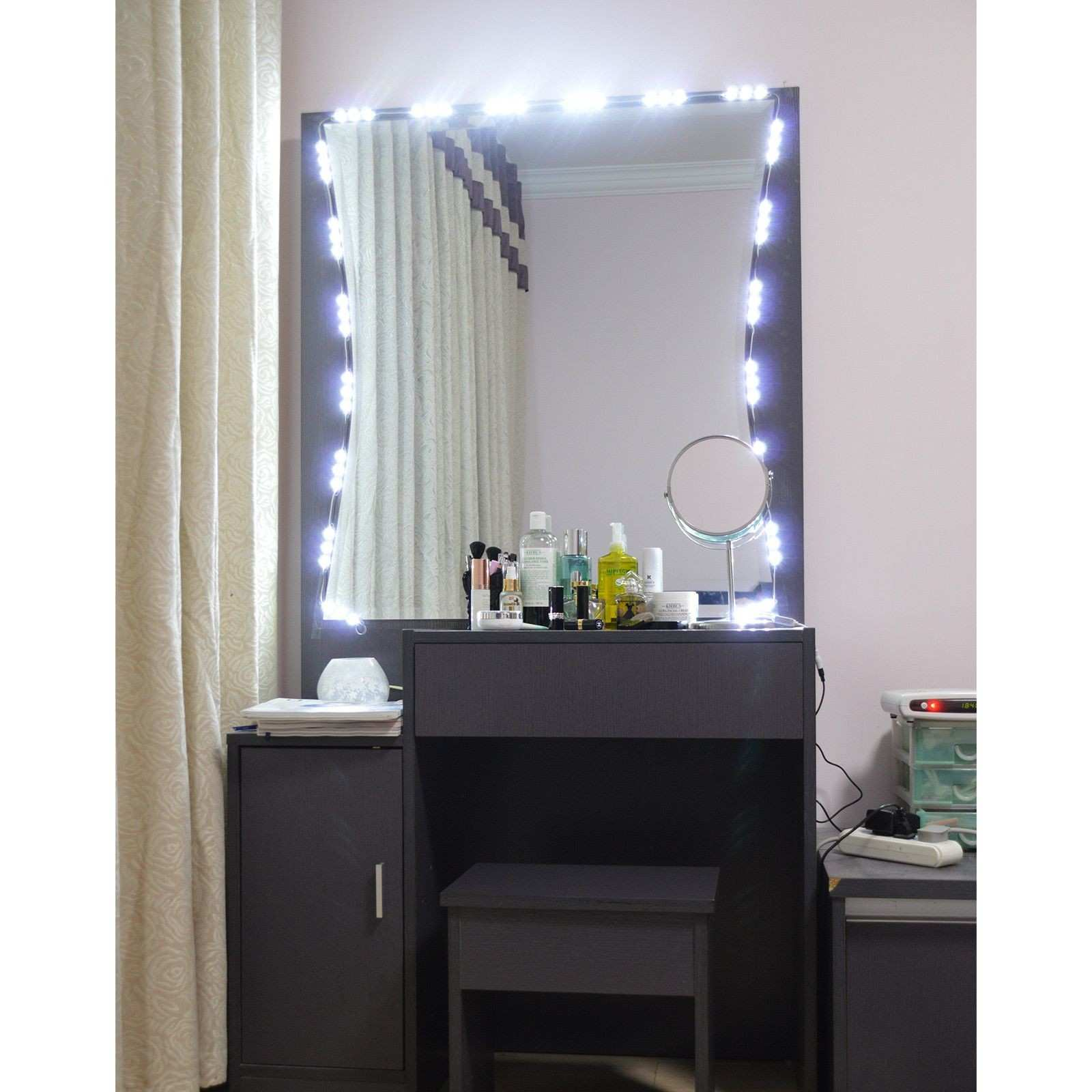 Light Mirror With Built In Lights Vanity Wall Mounted Makeup