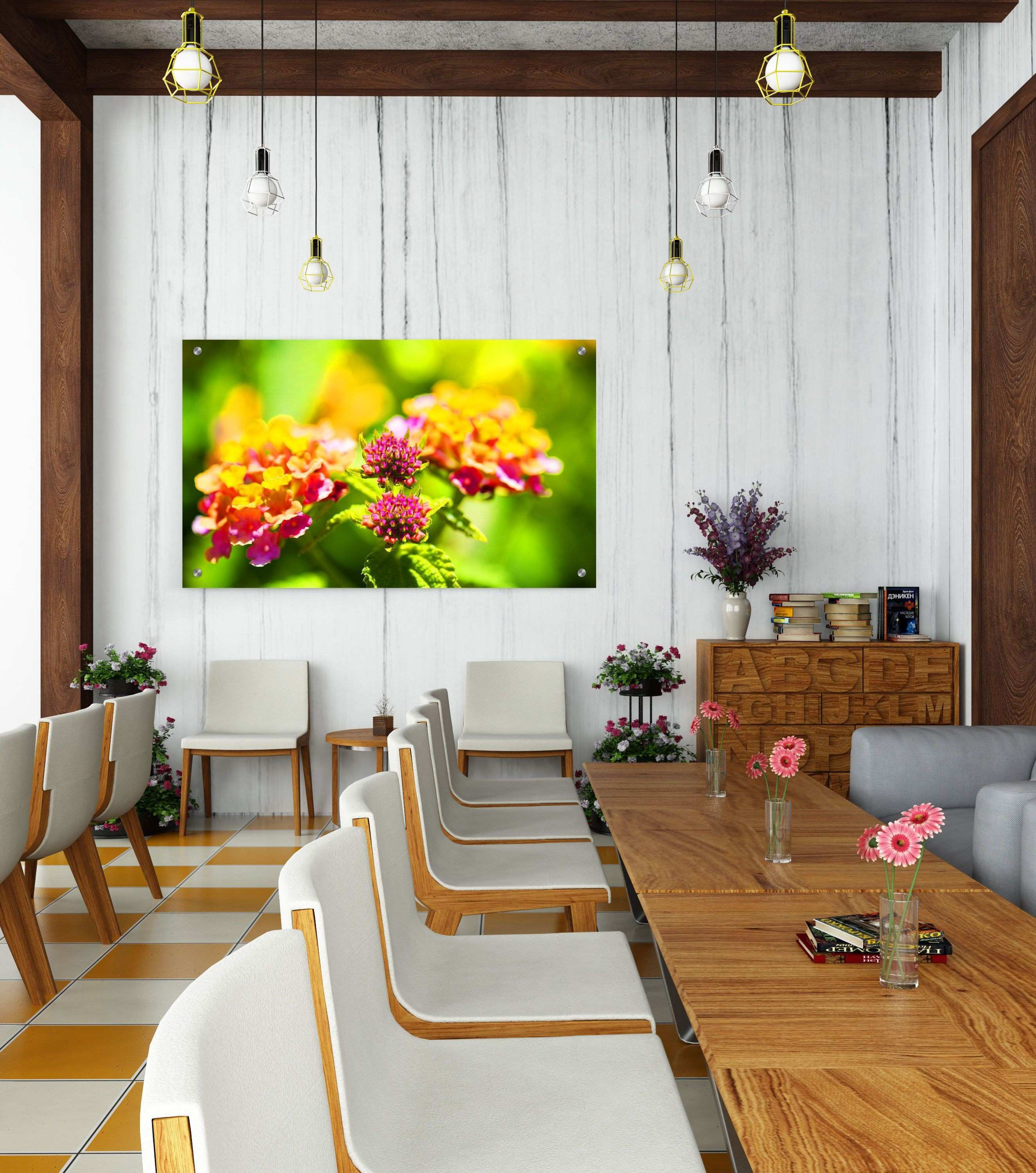Flower Room Decoration Luxury Metal Wall Print Flower Fine