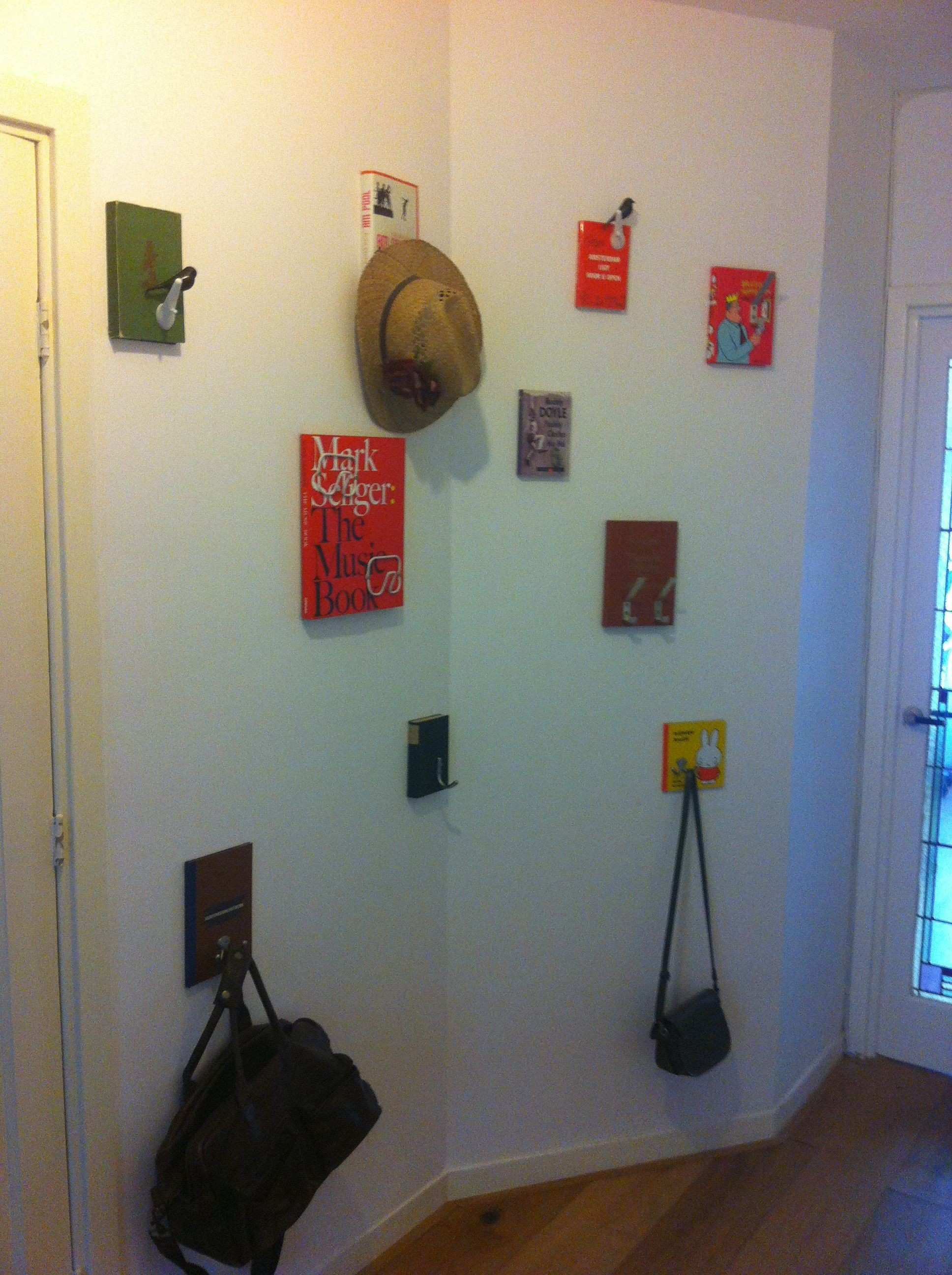 Books with hooks to hang your coat on Different hooks on different