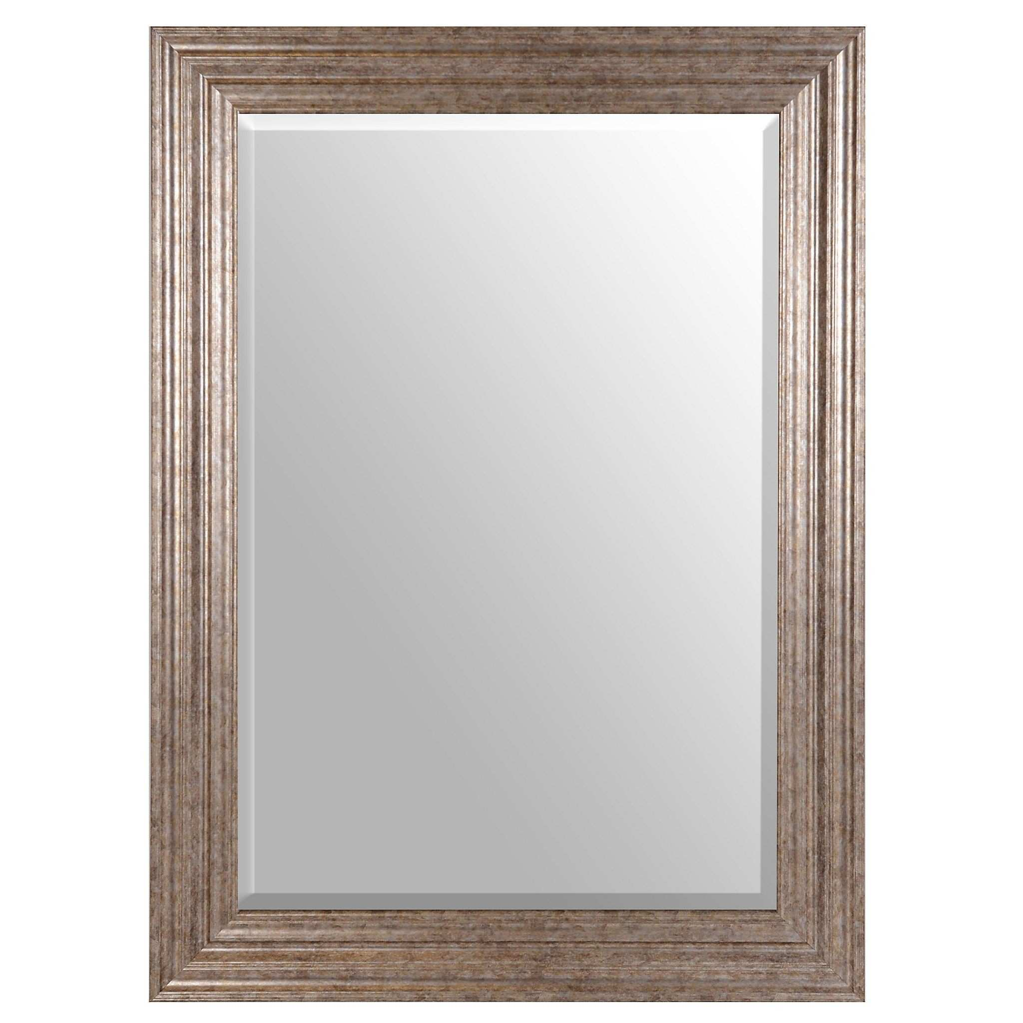 Antique Silver Framed Mirror 32x44 in