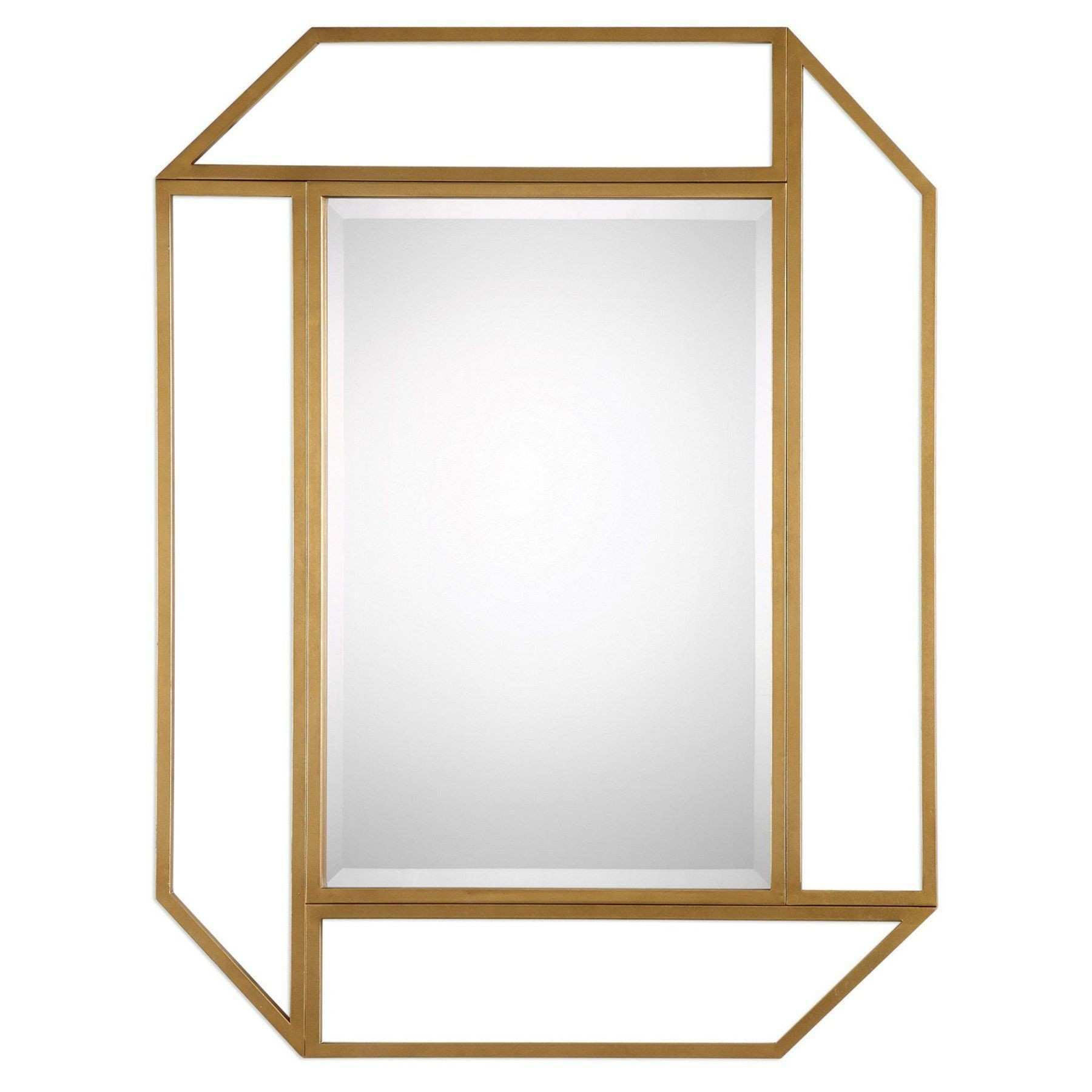 Uttermost Mendez Antiqued Gold Wall Mirror 9219
