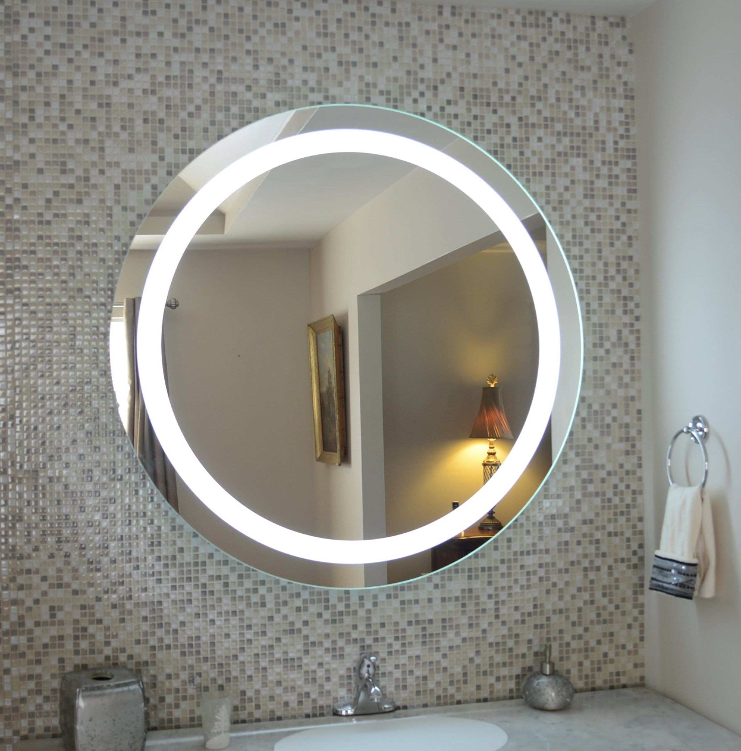Decorative Round Mirrors For Walls Fresh Wall Mounted Lighted Vanity Mirror Led Mam1d40 Mercial Grade 40