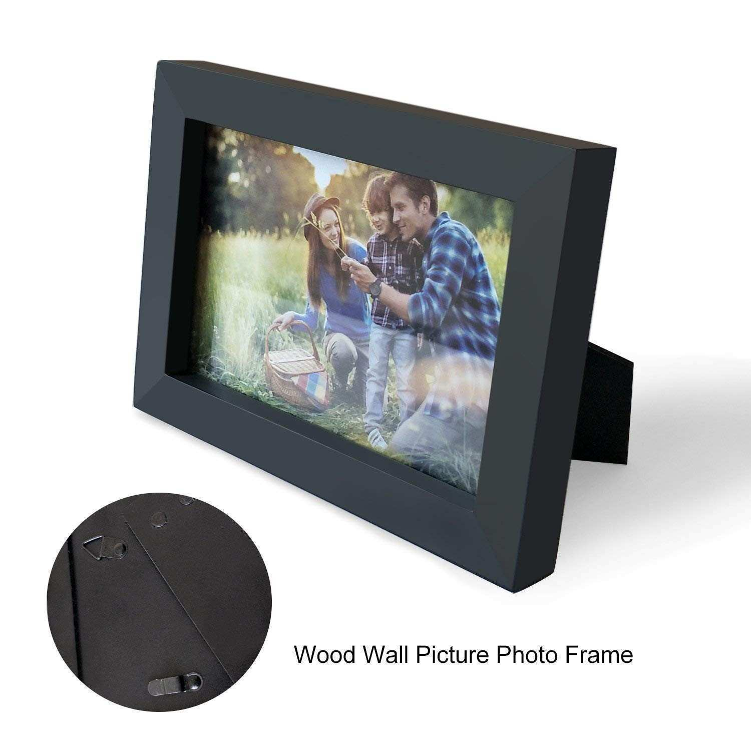Amazon Adeco 4x6 Black Wood Decorative Picture Frame Wall