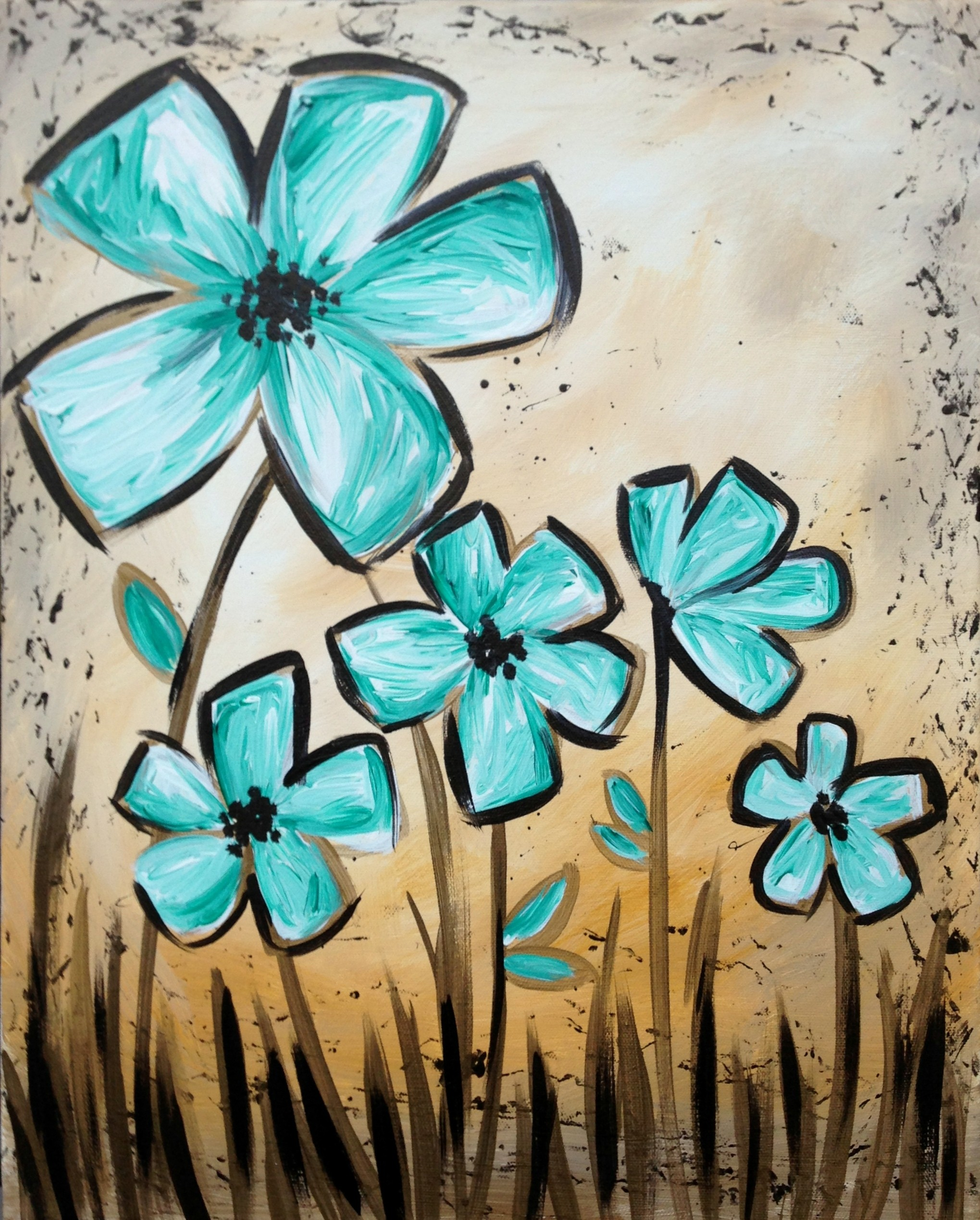 Rustic Garden from Pinot s Palette • Acrylic Canvas Painting