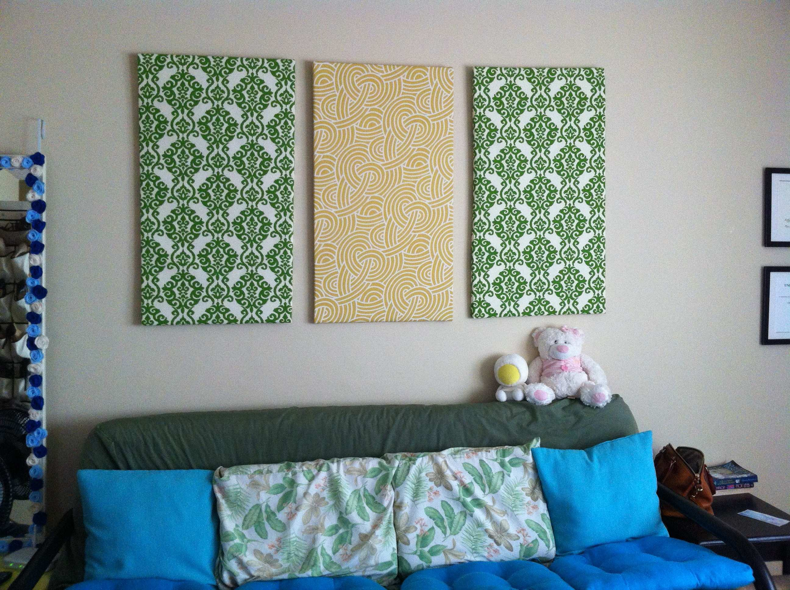 Amazing Decoration Fabric Wall Art DIY Crafting Is Sanity Wall
