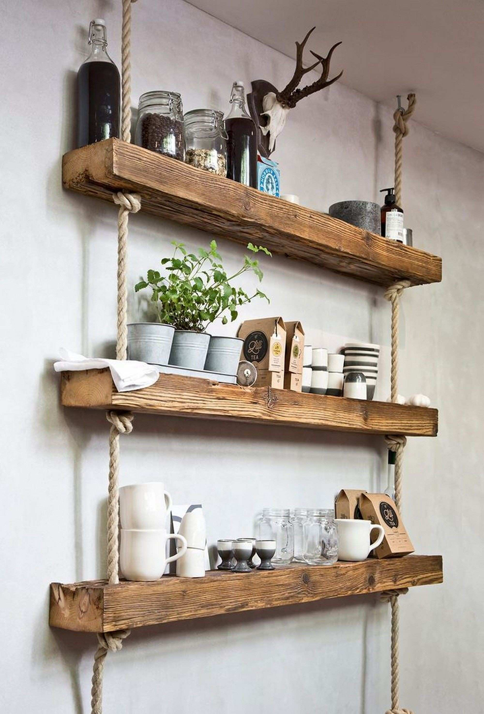 Easy and Stylish DIY wooden wall shelves ideas