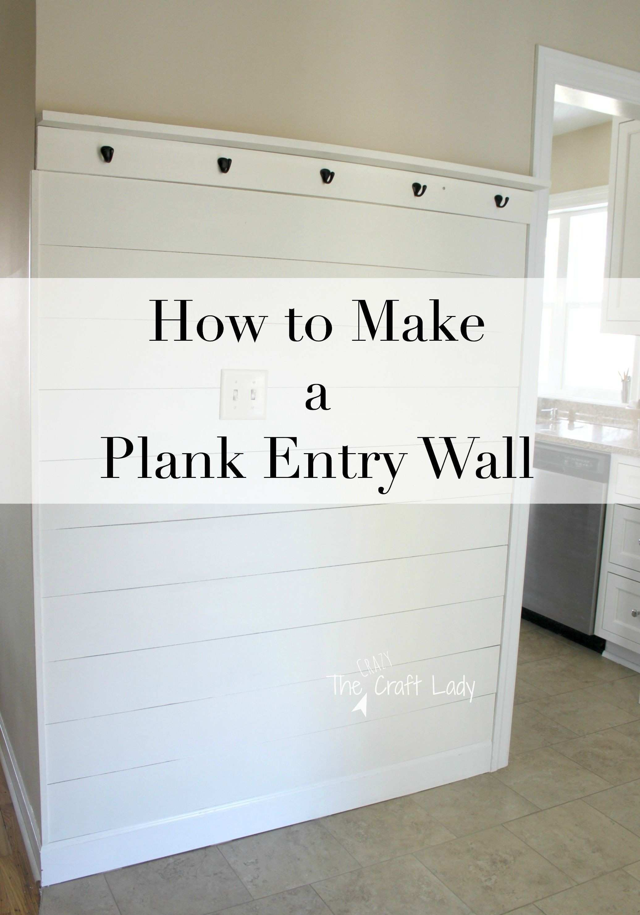 How to Make a Plank Entry Wall