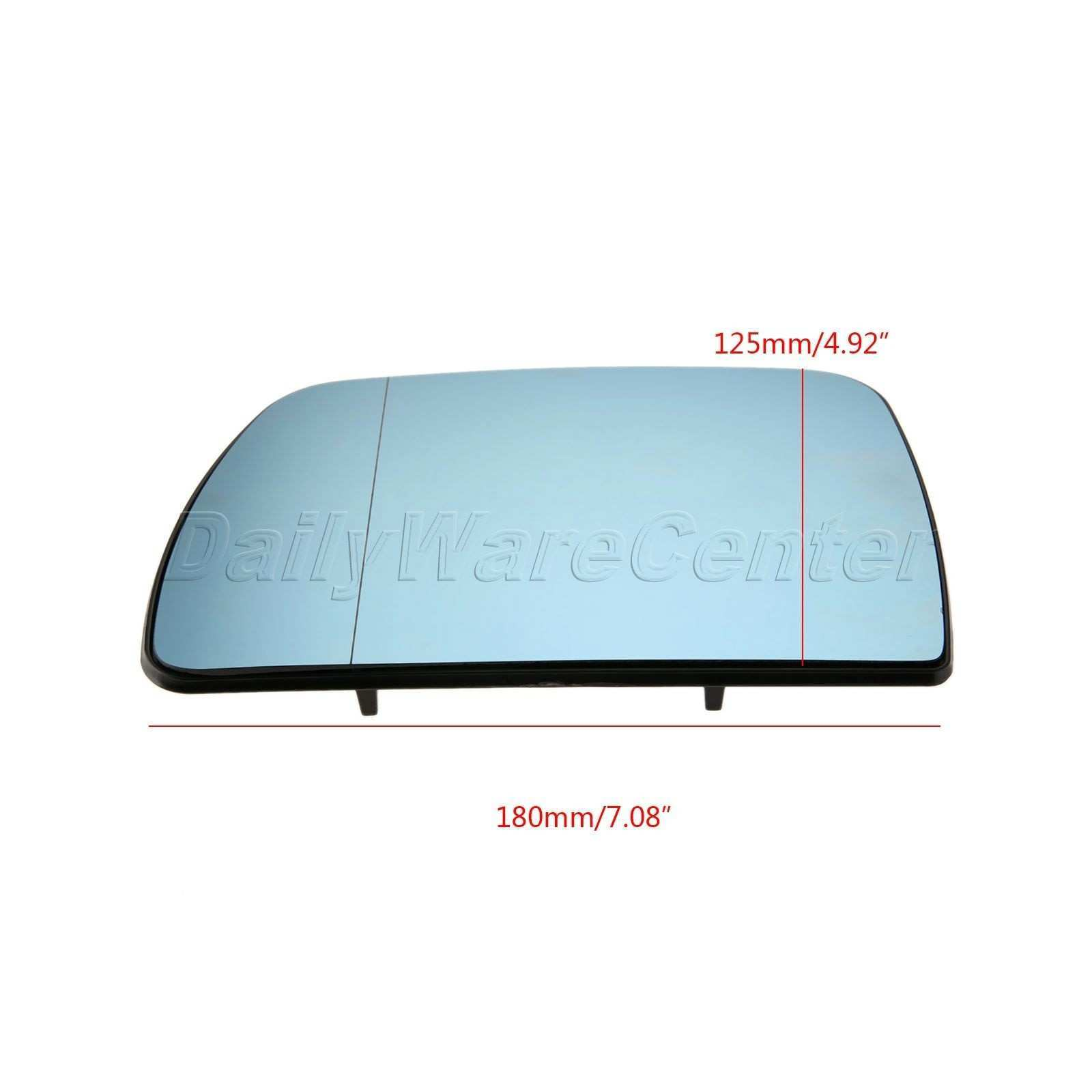 1Pair L R Door Wing Mirror Glass Heated Blue Left Right Side For BMW