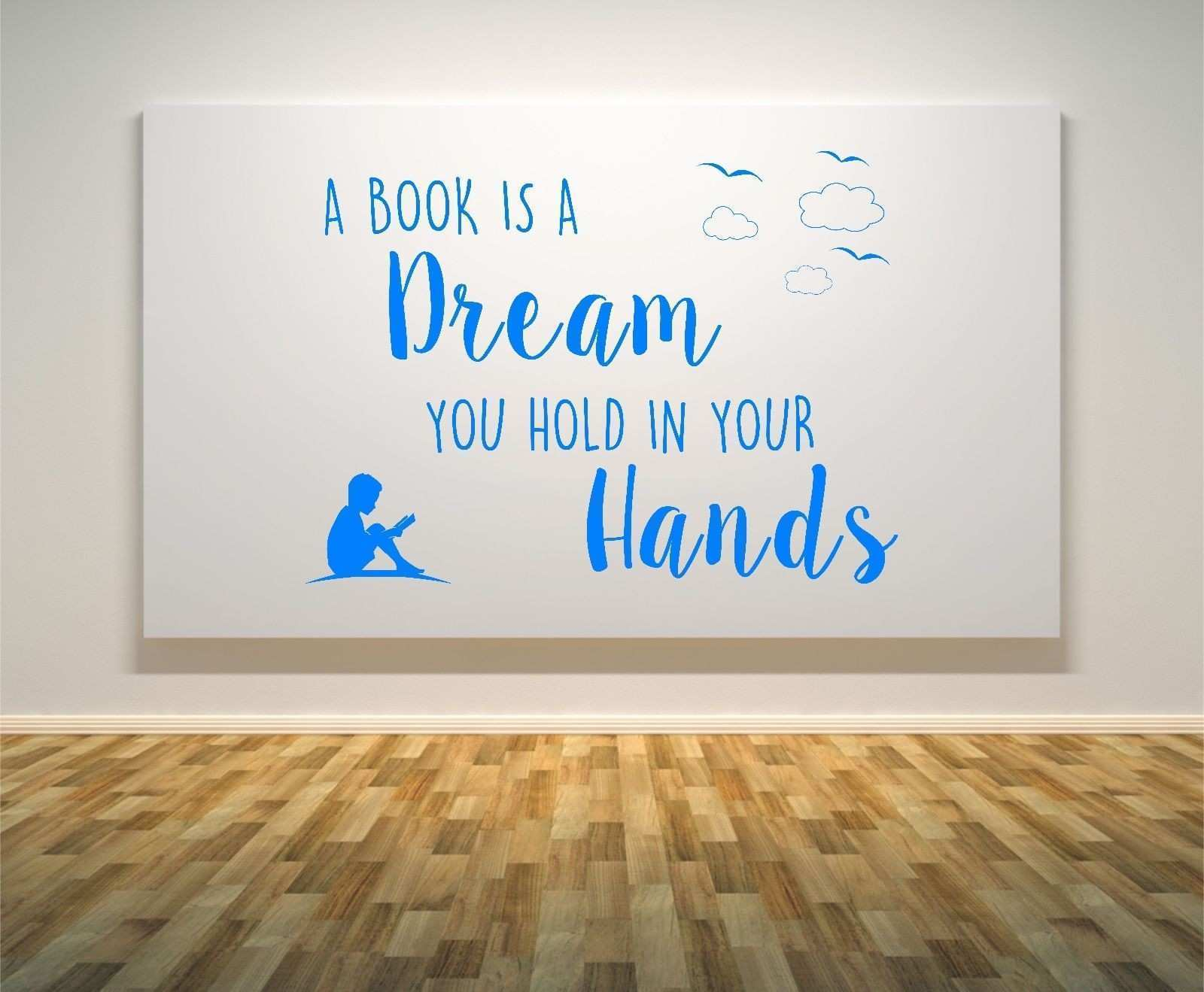 Reading Quotes Canvas Painting Art Poster Reading is dreaming with