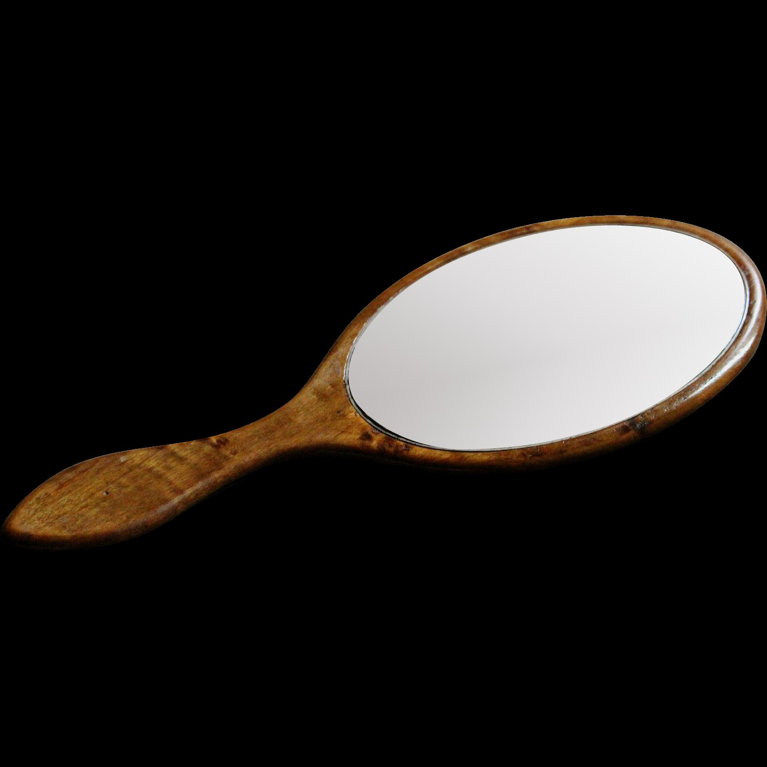 Antique English Hand Held Vanity Mirror Victorian Late 19th