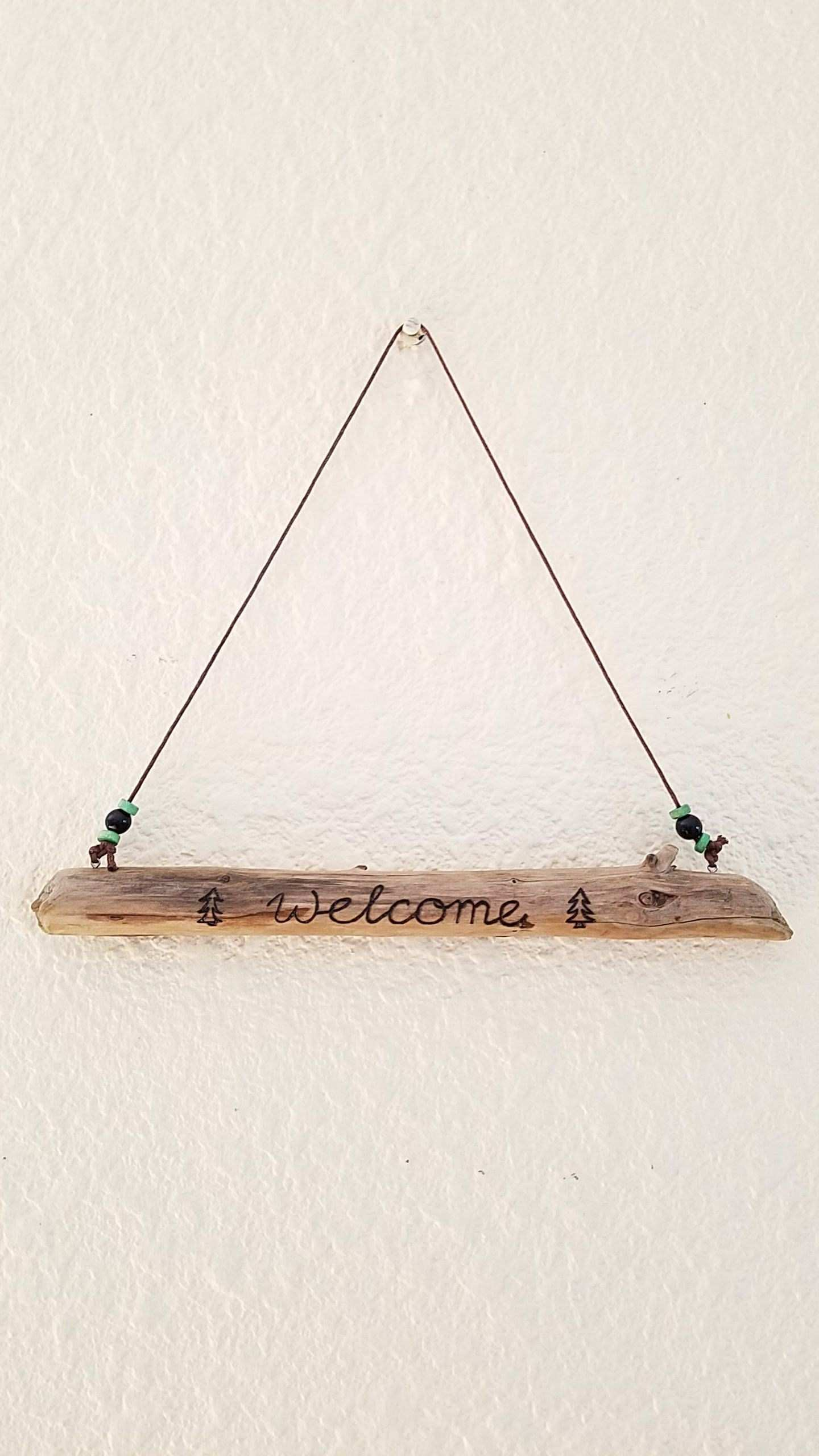 Wel e Driftwood Art Modern Rustic Wall Hanging for Home Mountain