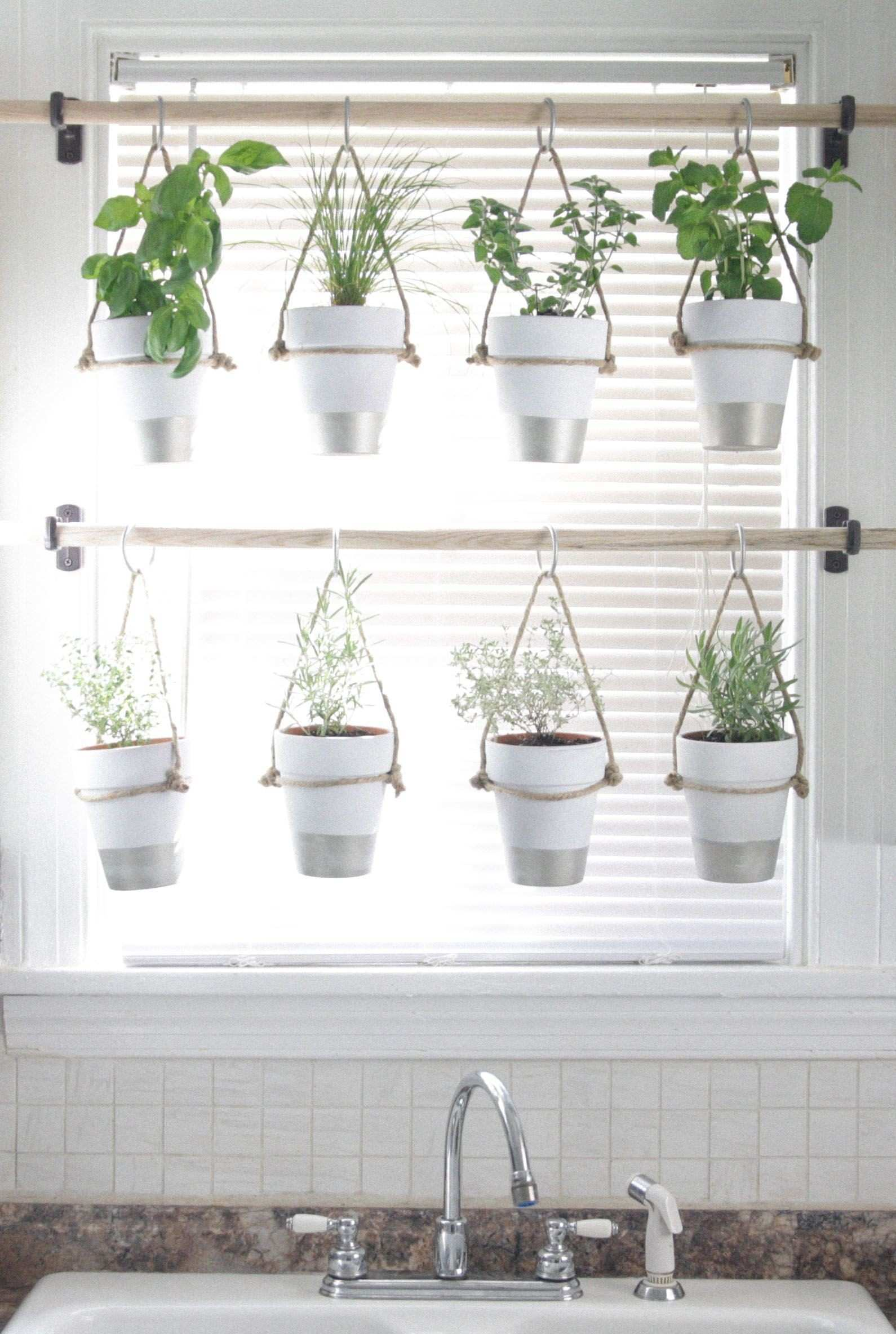 DIY Indoor Hanging Herb Garden Learn how to make an easy bud